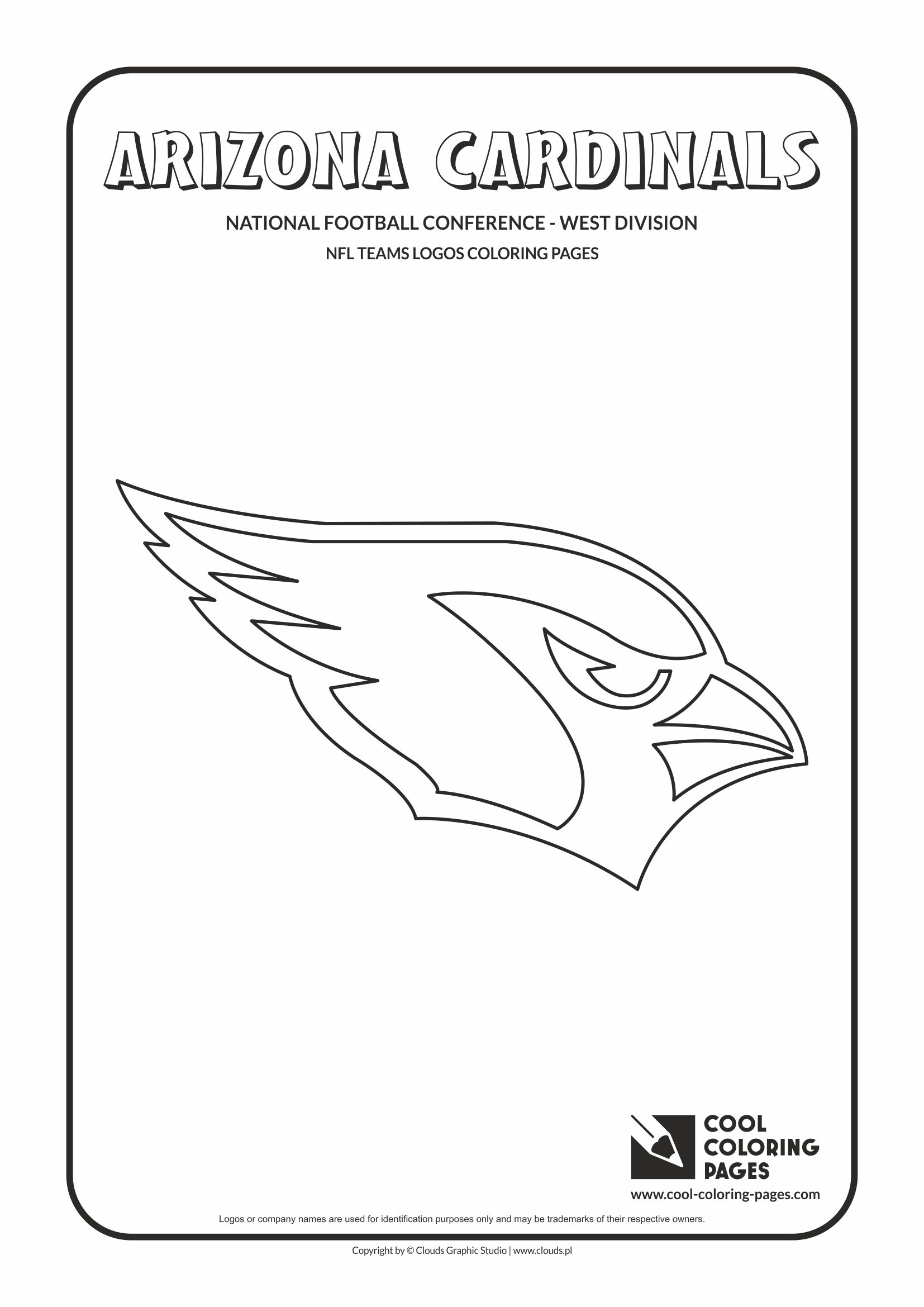 Cool Coloring Pages - NFL American Football Clubs Logos - National Football Conference - West Division / Arizona Cardinals logo / Coloring page with Arizona Cardinals logo