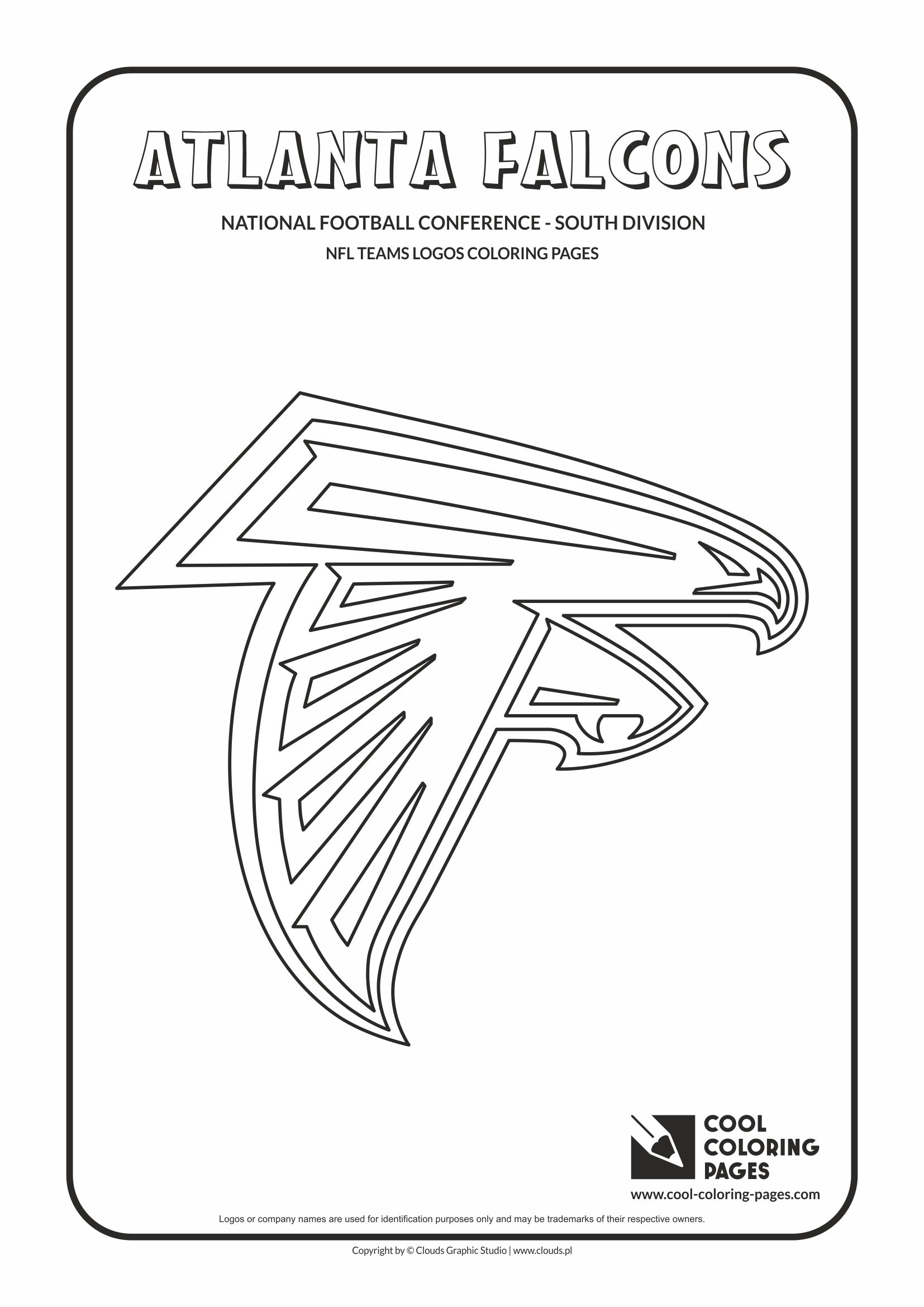 Cool Coloring Pages - NFL American Football Clubs Logos - National Football Conference - East Division / Atlanta Falcons logo / Coloring page with Atlanta Falcons logo