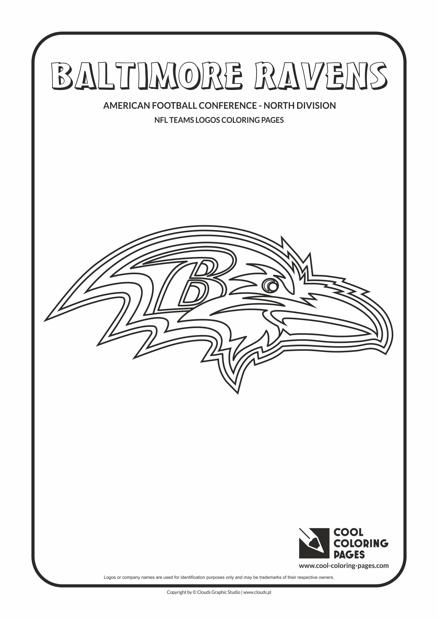 Cool Coloring Pages - NFL American Football Clubs Logos - American Football Conference - North Division / Baltimore Ravens logo / Coloring page with Baltimore Ravens logo