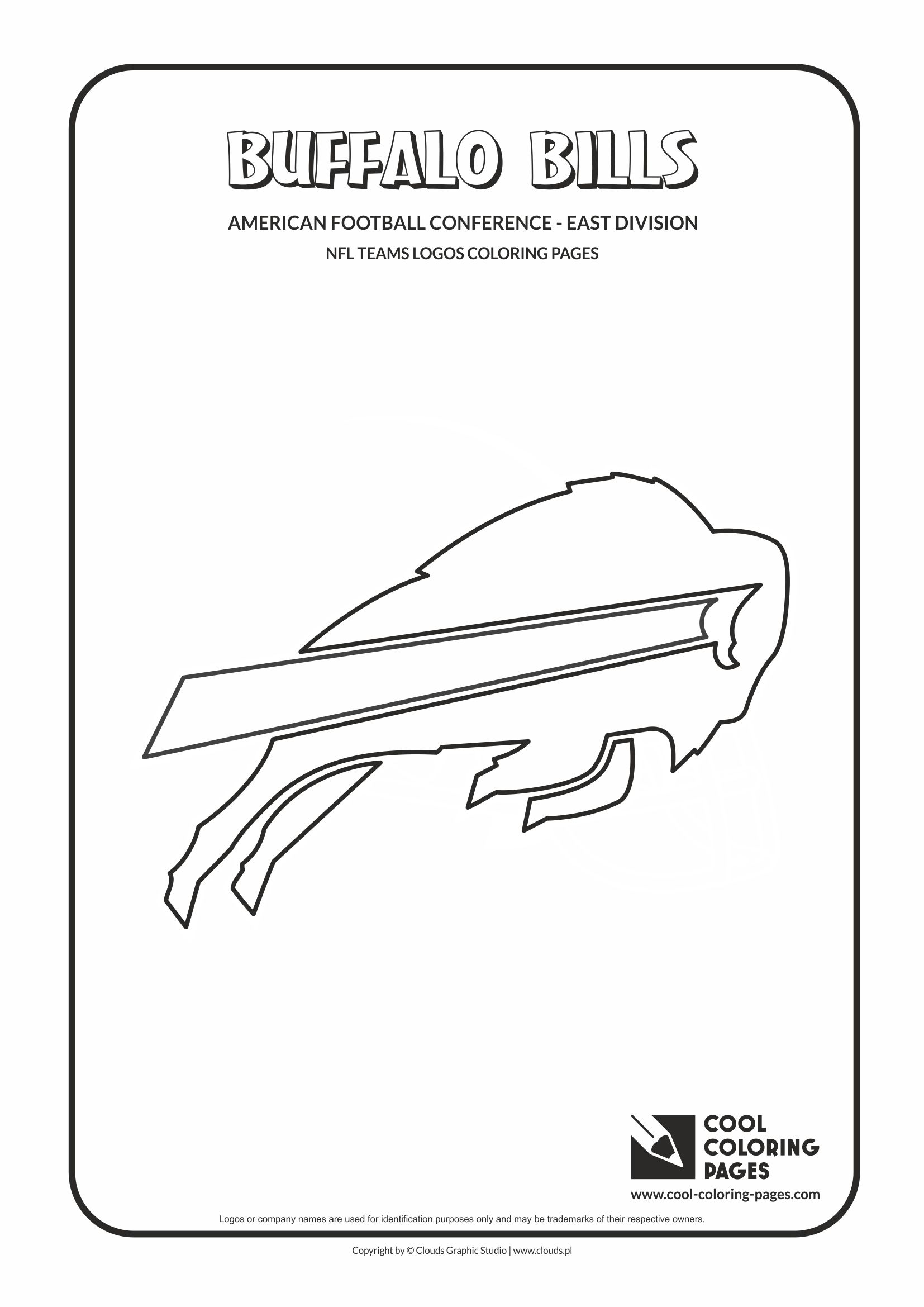 Cool Coloring Pages - NFL American Football Clubs Logos - American Football Conference - East Division / Buffalo Bills logo / Coloring page with Buffalo Bills logo
