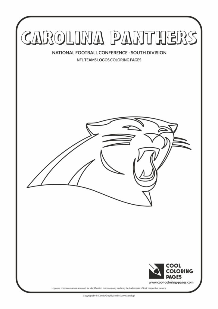 Cool Coloring Pages Carolina Panthers Nfl American