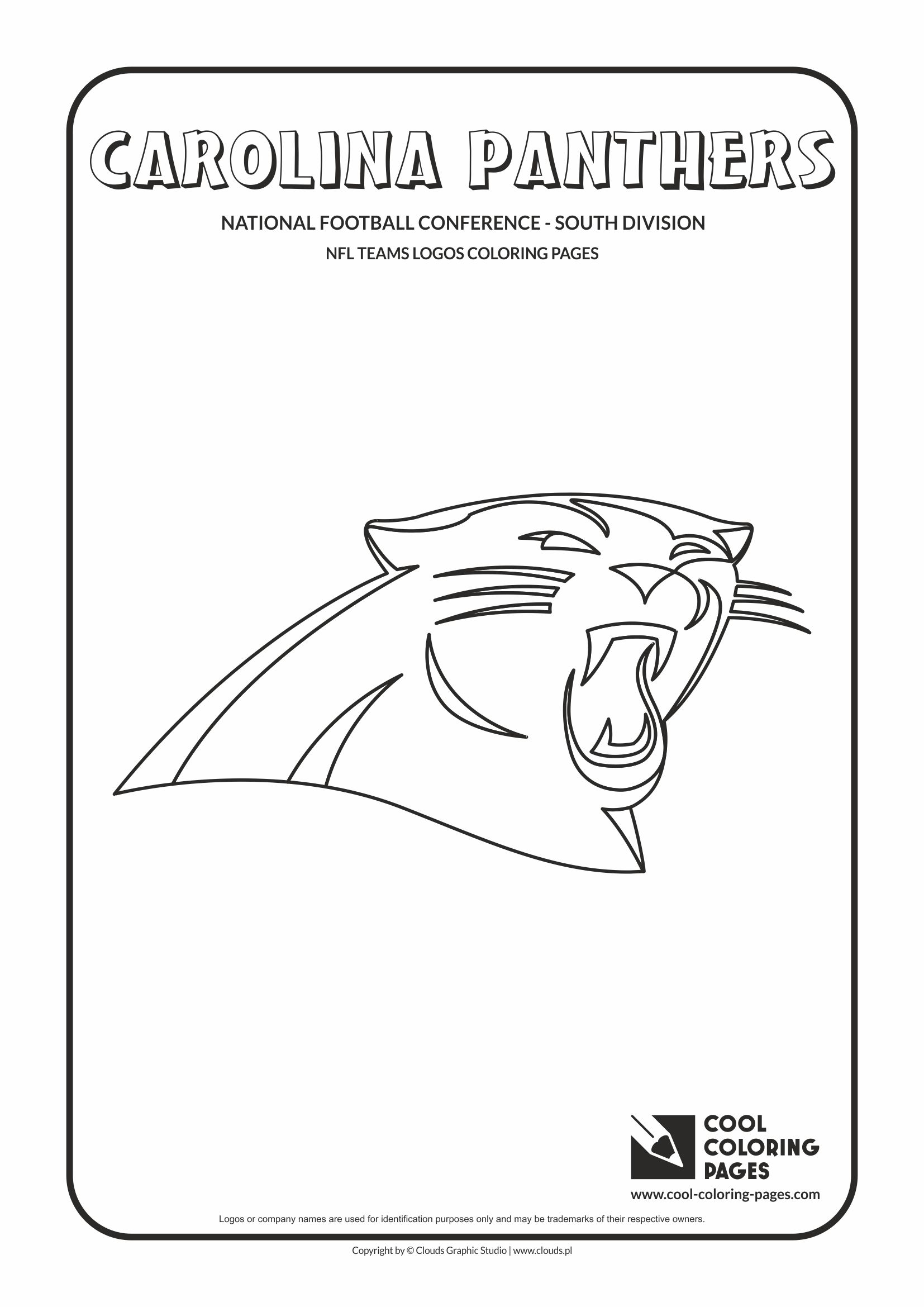 Cool Coloring Pages - NFL American Football Clubs Logos - National Football Conference - East Division / Carolina Panthers logo / Coloring page with Carolina Panthers logo