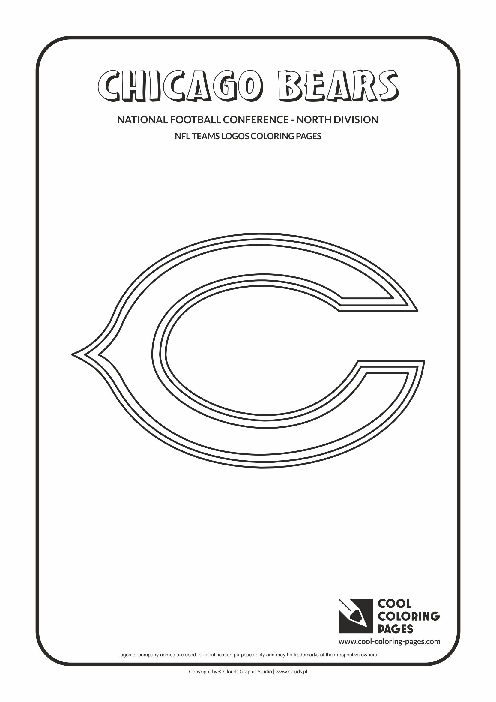 Cool Coloring Pages - NFL American Football Clubs Logos - National Football Conference - North Division / Chicago Bears logo / Coloring page with Chicago Bears logo