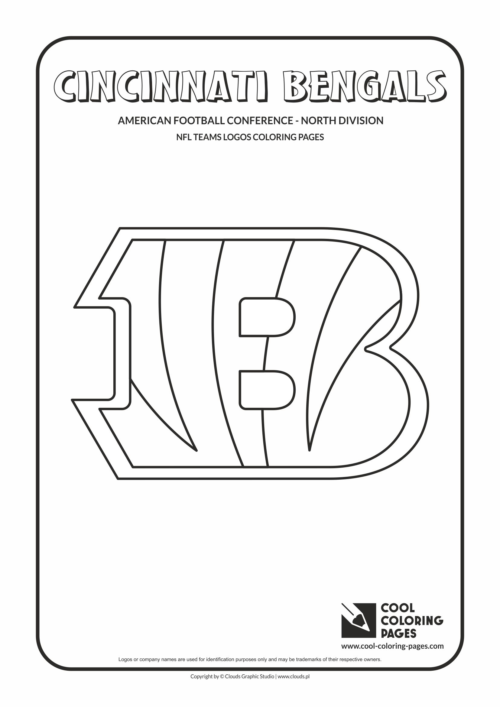 Cool Coloring Pages - NFL American Football Clubs Logos - American Football Conference - North Division / Cincinnati Bengals logo / Coloring page with Cincinnati Bengals logo