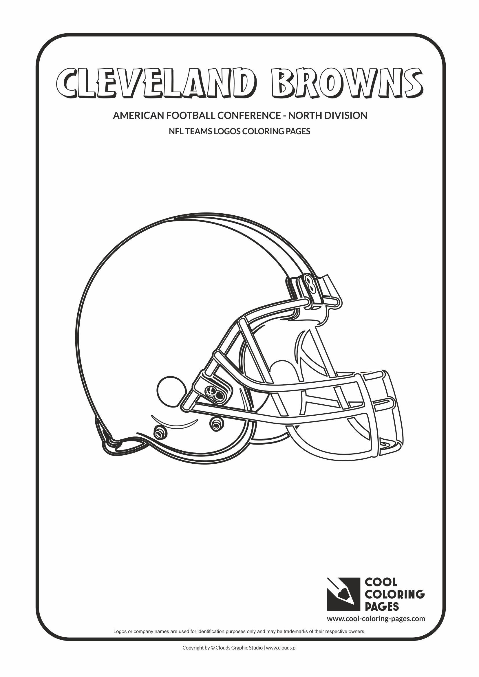 Cool Coloring Pages - NFL American Football Clubs Logos - American Football Conference - North Division / Cleveland Browns logo / Coloring page with Cleveland Browns logo