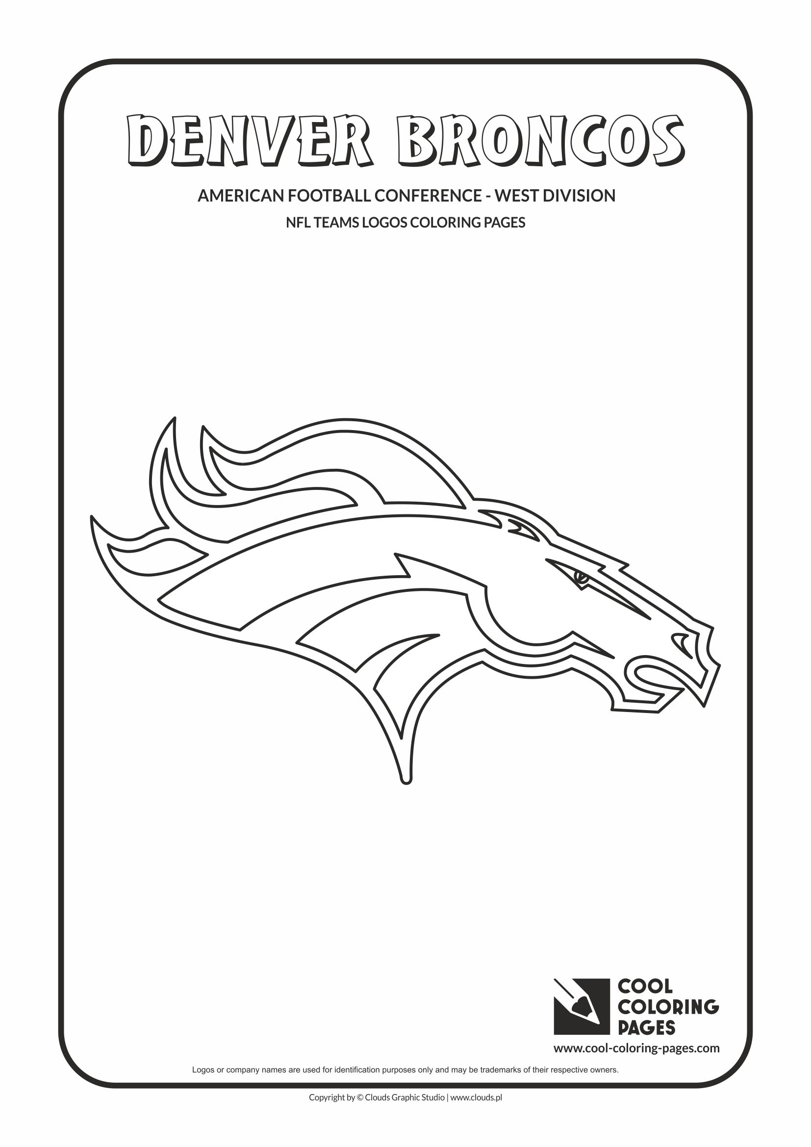 Cool Coloring Pages - NFL American Football Clubs Logos - American Football Conference - West Division / Denver Broncos logo / Coloring page with Denver Broncos logo