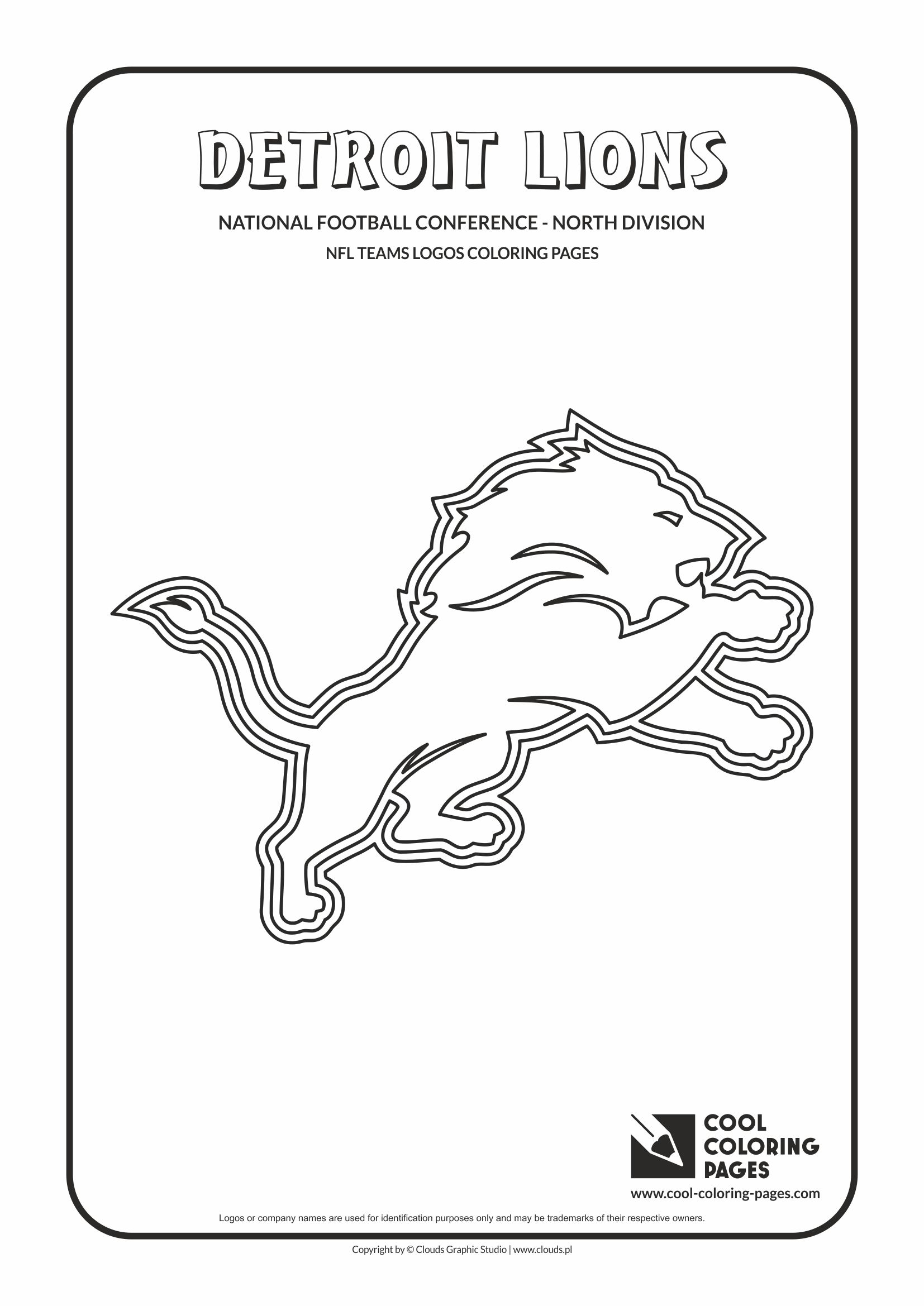 Cool Coloring Pages - NFL American Football Clubs Logos - National Football Conference - North Division / Detroit Lions logo / Coloring page with Detroit Lions logo