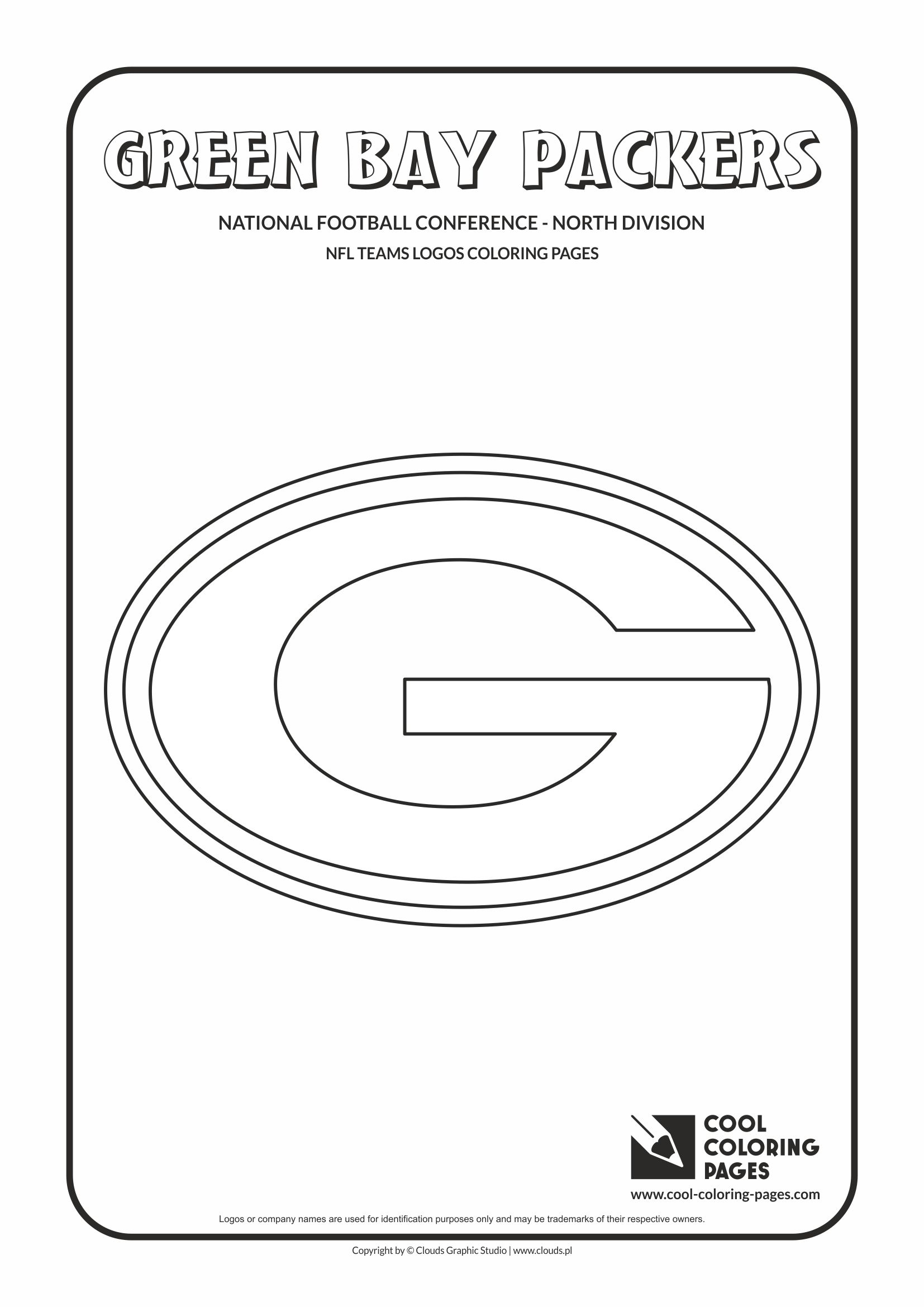 cool coloring pages nfl american football clubs logos national football conference north division green bay packers