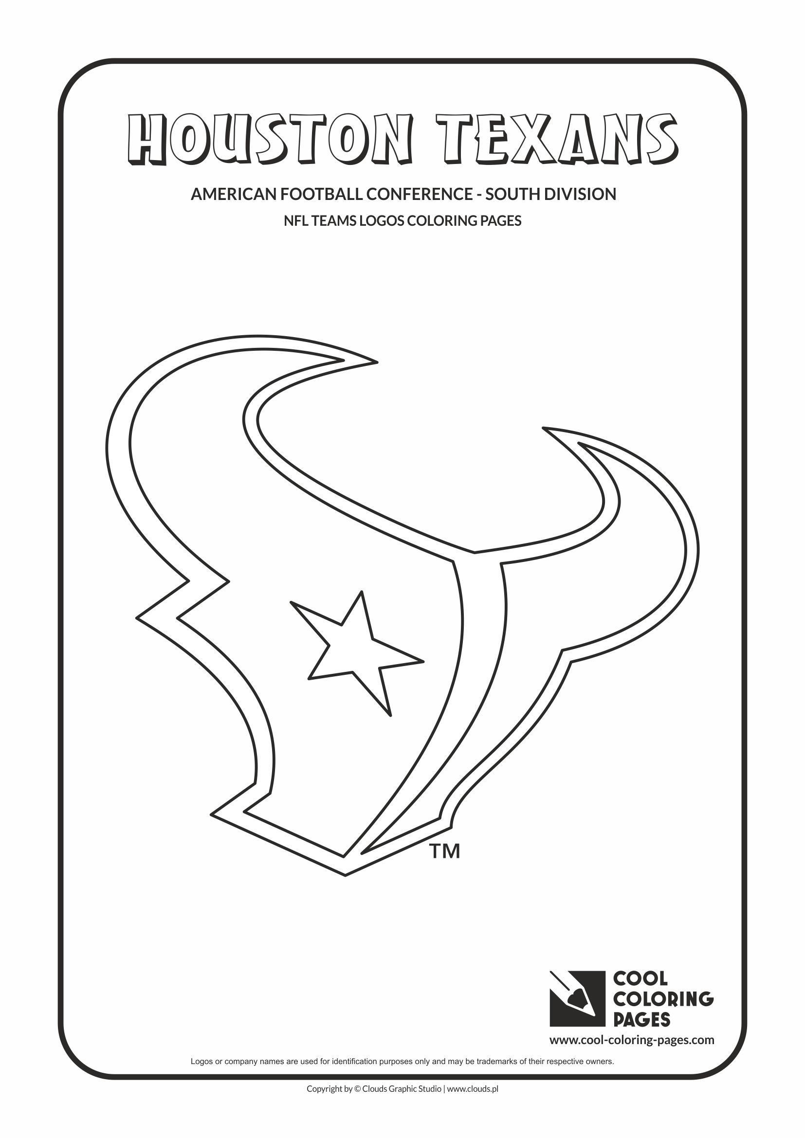 Cool Coloring Pages - NFL American Football Clubs Logos - American Football Conference - South Division / Houston Texans logo / Coloring page with Houston Texans logo