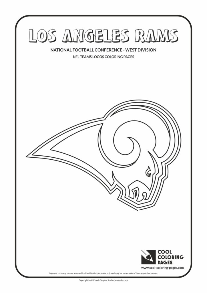 Cool Coloring Pages Los Angeles Rams Nfl American