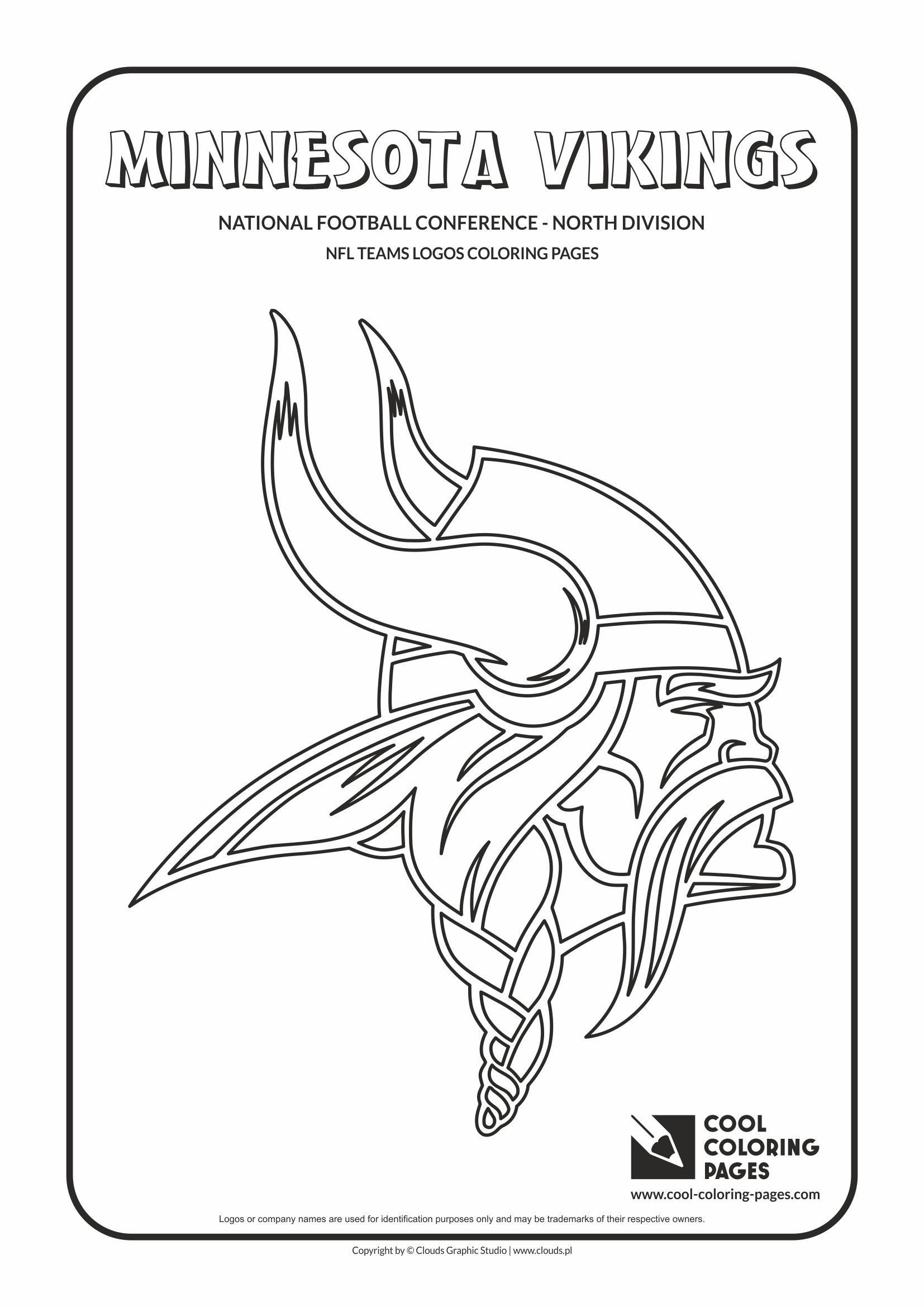 cool coloring pages nfl american football clubs logos national football conference north division - Nfl Logo Coloring Pages Printable