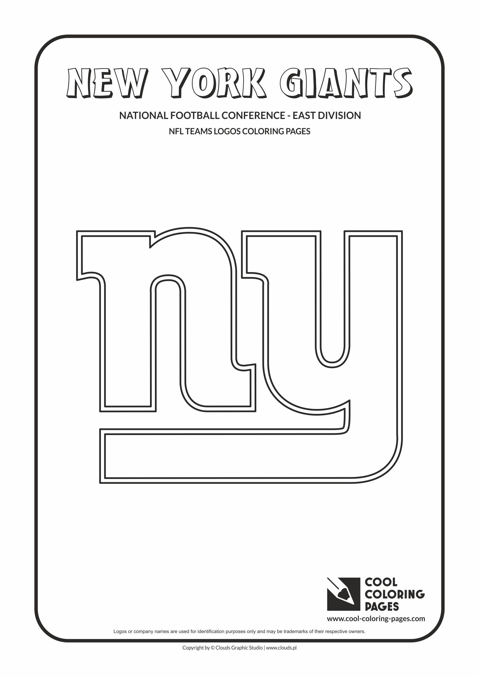 Cool Coloring Pages - NFL American Football Clubs Logos - National Football Conference - East Division / New York Giants logo / Coloring page with New York Giants logo