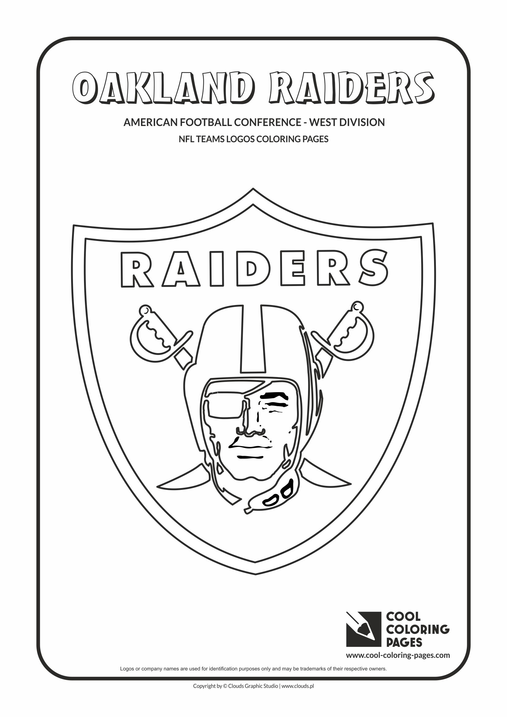 Cool Coloring Pages - NFL American Football Clubs Logos - American Football Conference - West Division / Oakland Raiders logo / Coloring page with Oakland Raiders logo