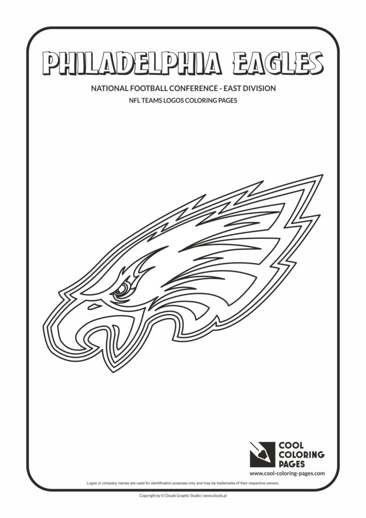 Cool Coloring Pages Philadelphia Eagles NFL American