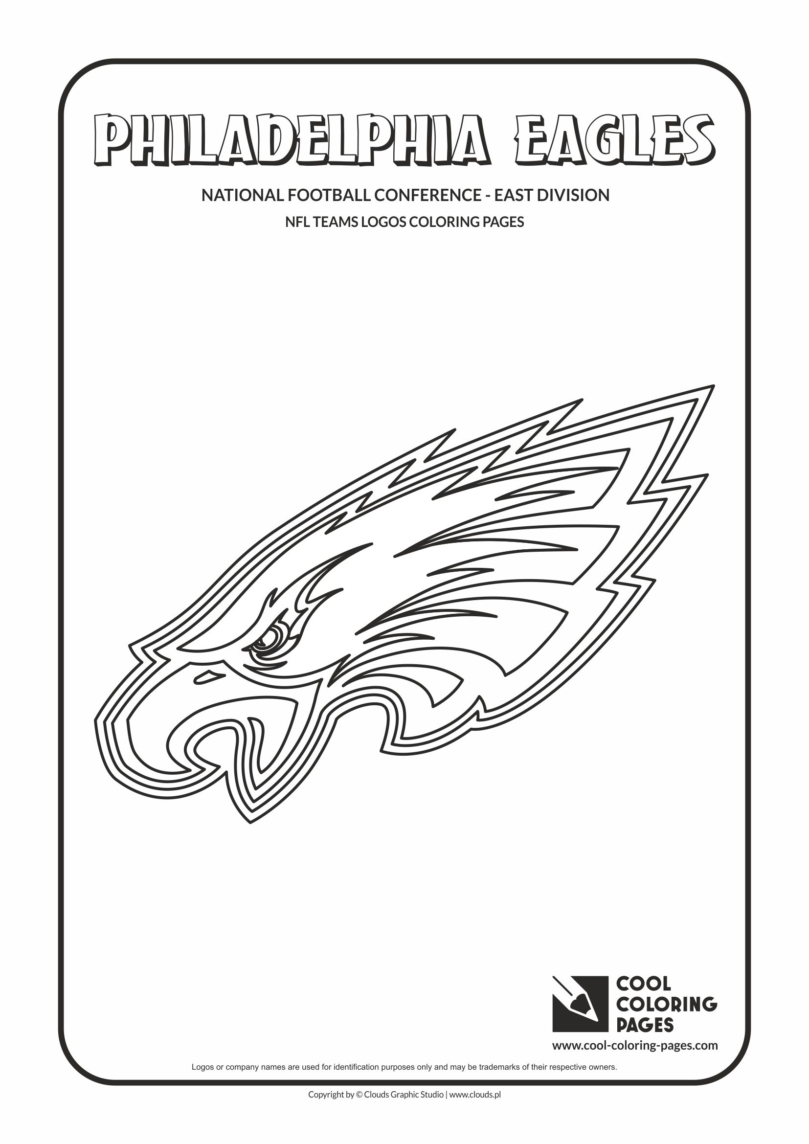 Cool Coloring Pages - NFL American Football Clubs Logos - National Football Conference - East Division / Philadelphia Eagles logo / Coloring page with Philadelphia Eagles logo