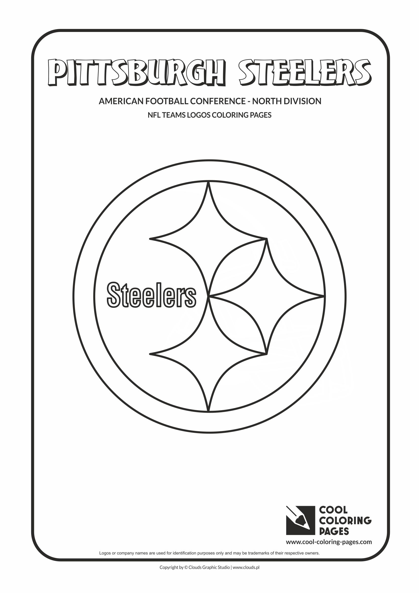 Cool Coloring Pages - NFL American Football Clubs Logos - American Football Conference - North Division / Pittsburgh Steelers logo / Coloring page with Pittsburgh Steelers logo