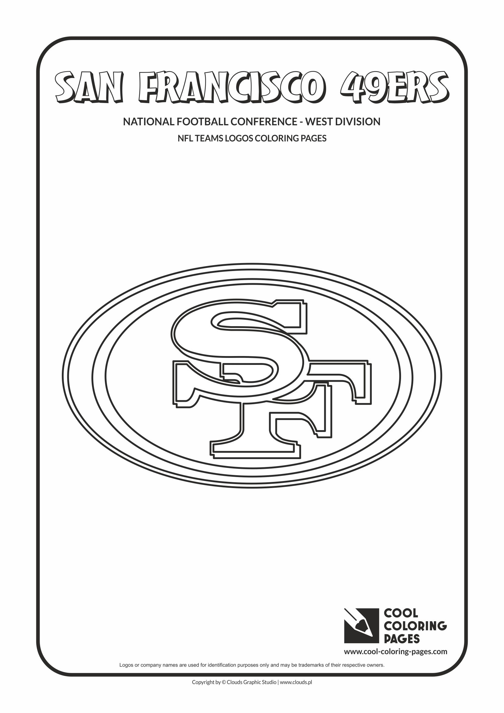 Cool Coloring Pages - NFL American Football Clubs Logos - National Football Conference - West Division / San Francisco 49ers logo / Coloring page with San Francisco 49ers logo