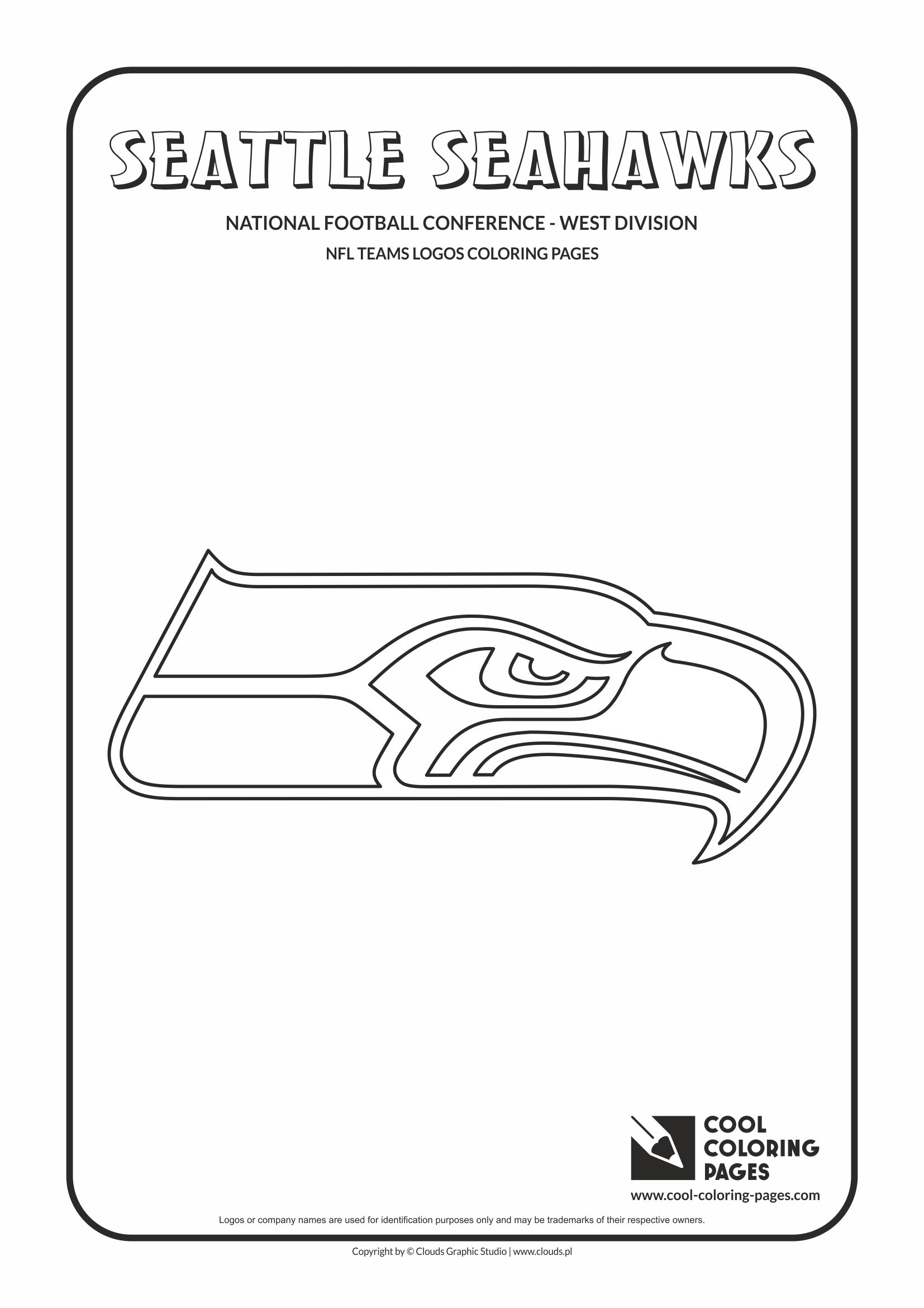 Cool Coloring Pages - NFL American Football Clubs Logos - National Football Conference - West Division / Seattle Seahawks logo / Coloring page with Seattle Seahawks logo