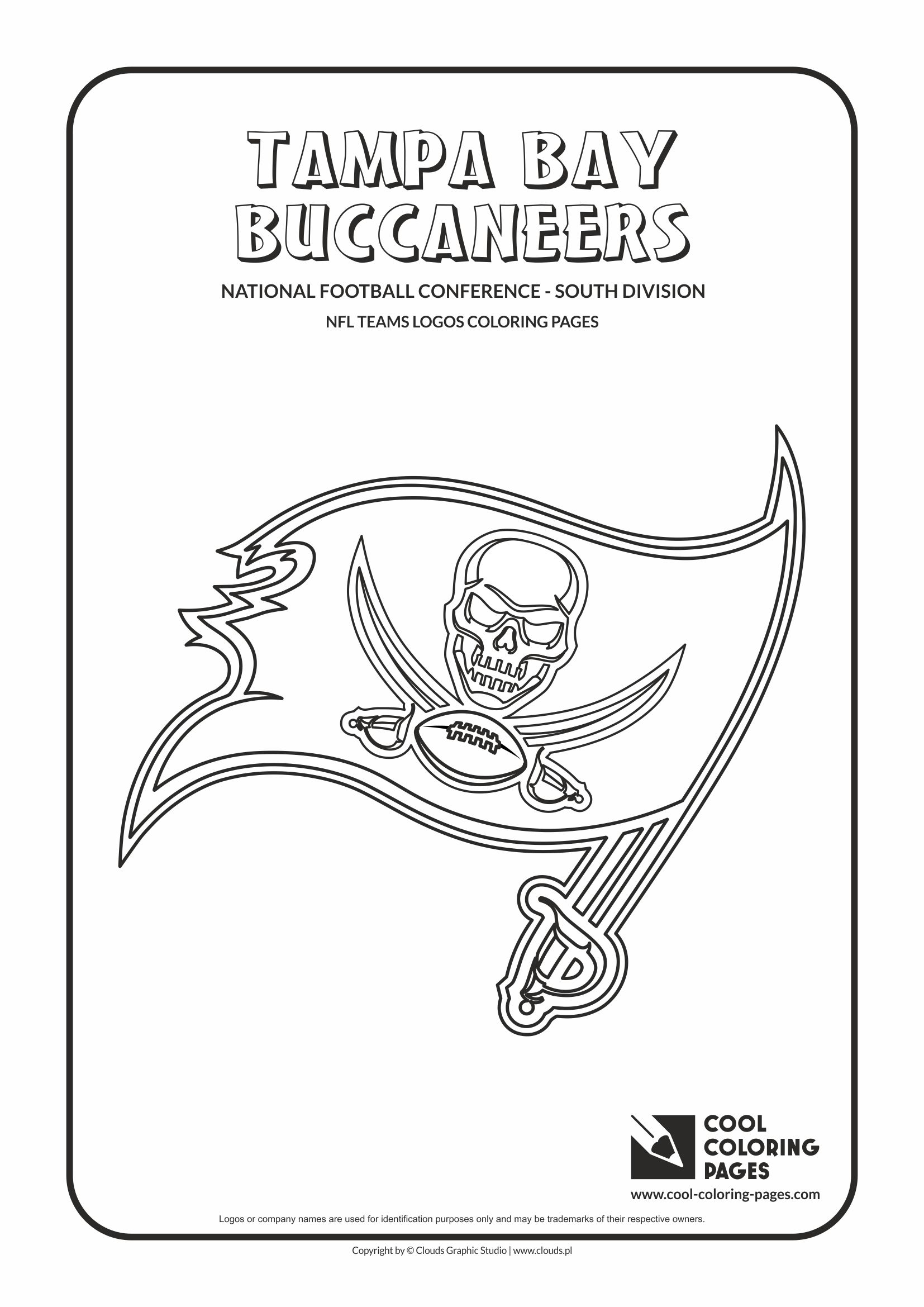 Cool Coloring Pages - NFL American Football Clubs Logos - National Football Conference - South Division / Tampa Bay Buccaneers logo / Coloring page with Tampa Bay Buccaneers logo
