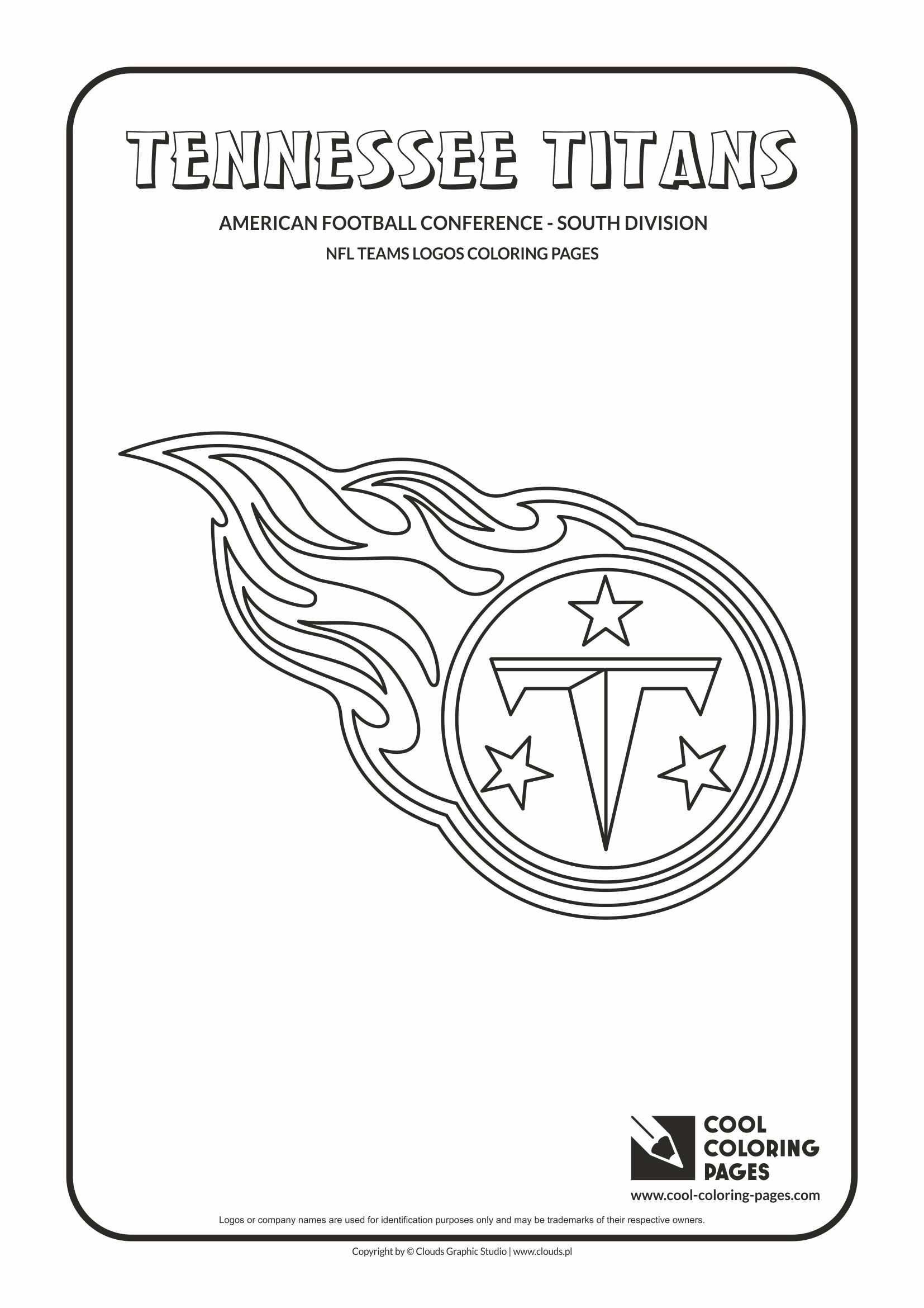 Cool Coloring Pages - NFL American Football Clubs Logos - American Football Conference - South Division / Tennessee Titans logo / Coloring page with Tennessee Titans logo