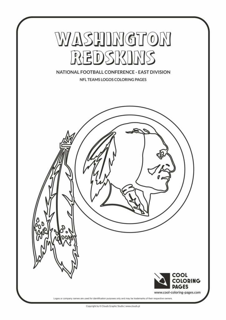 cool coloring pages washington redskins