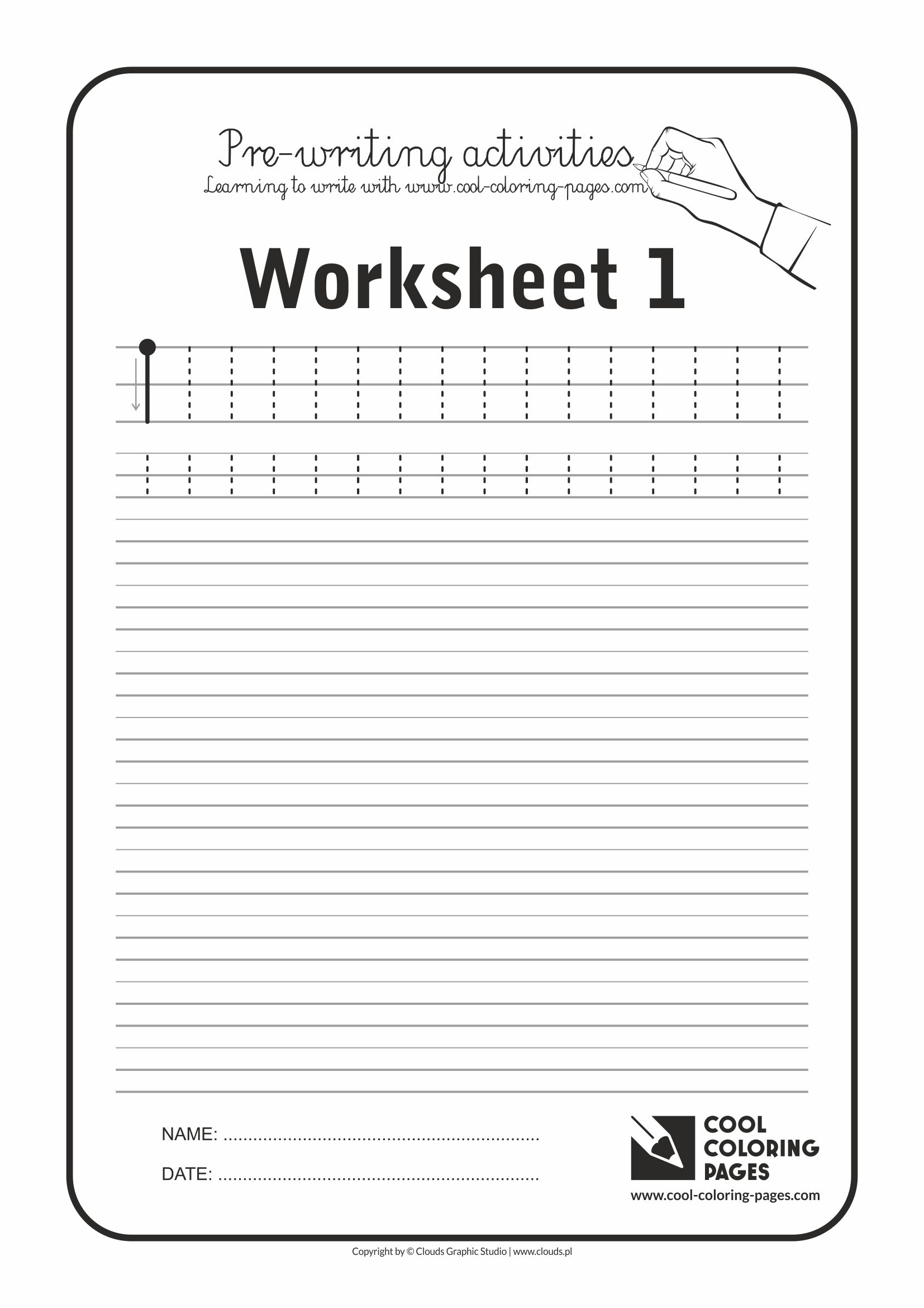 Cool Coloring Pages / Pre-writing activities / Worksheet no.1