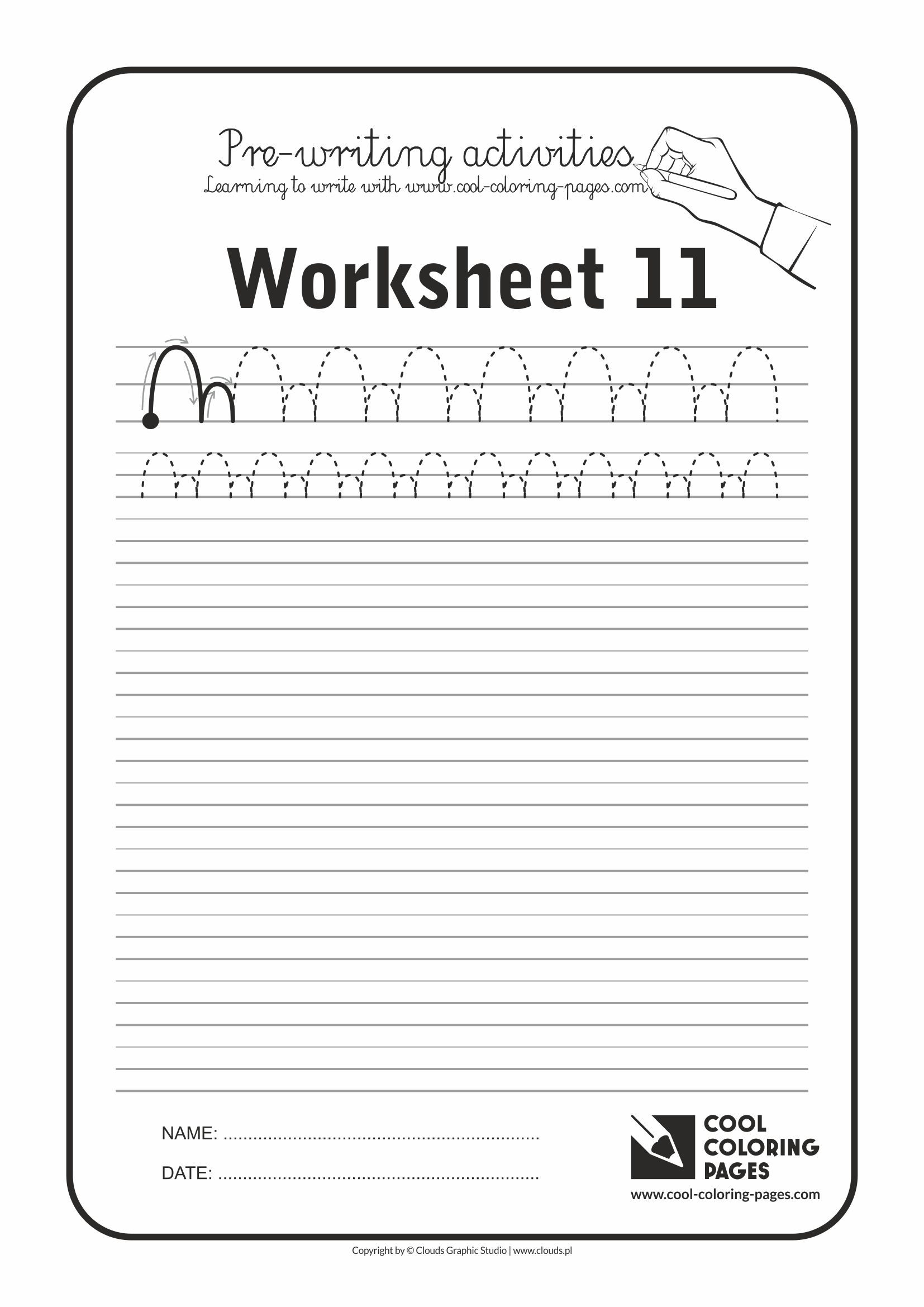 Cool Coloring Pages / Pre-writing activities / Worksheet no.11