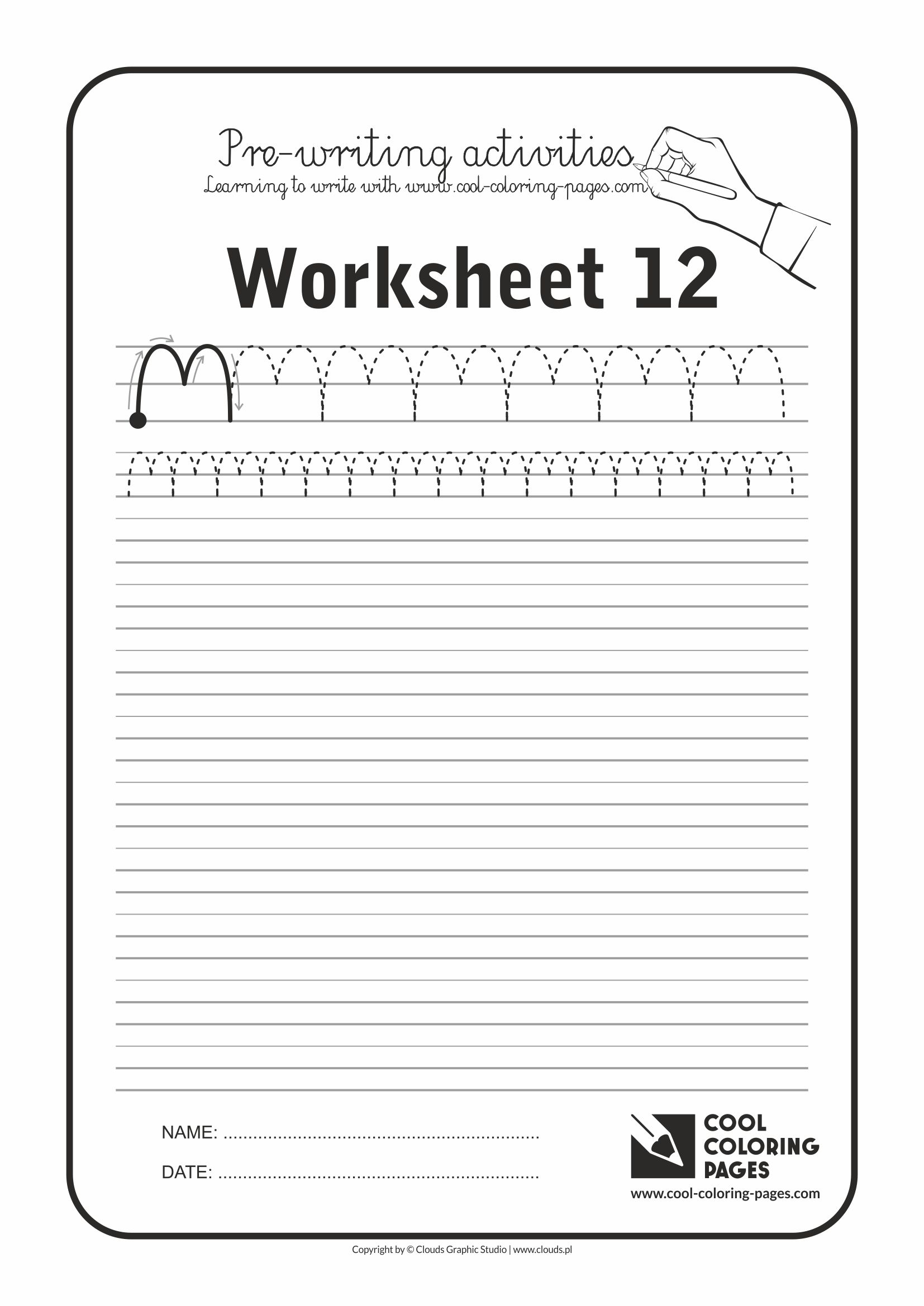 Cool Coloring Pages / Pre-writing activities / Worksheet no.12