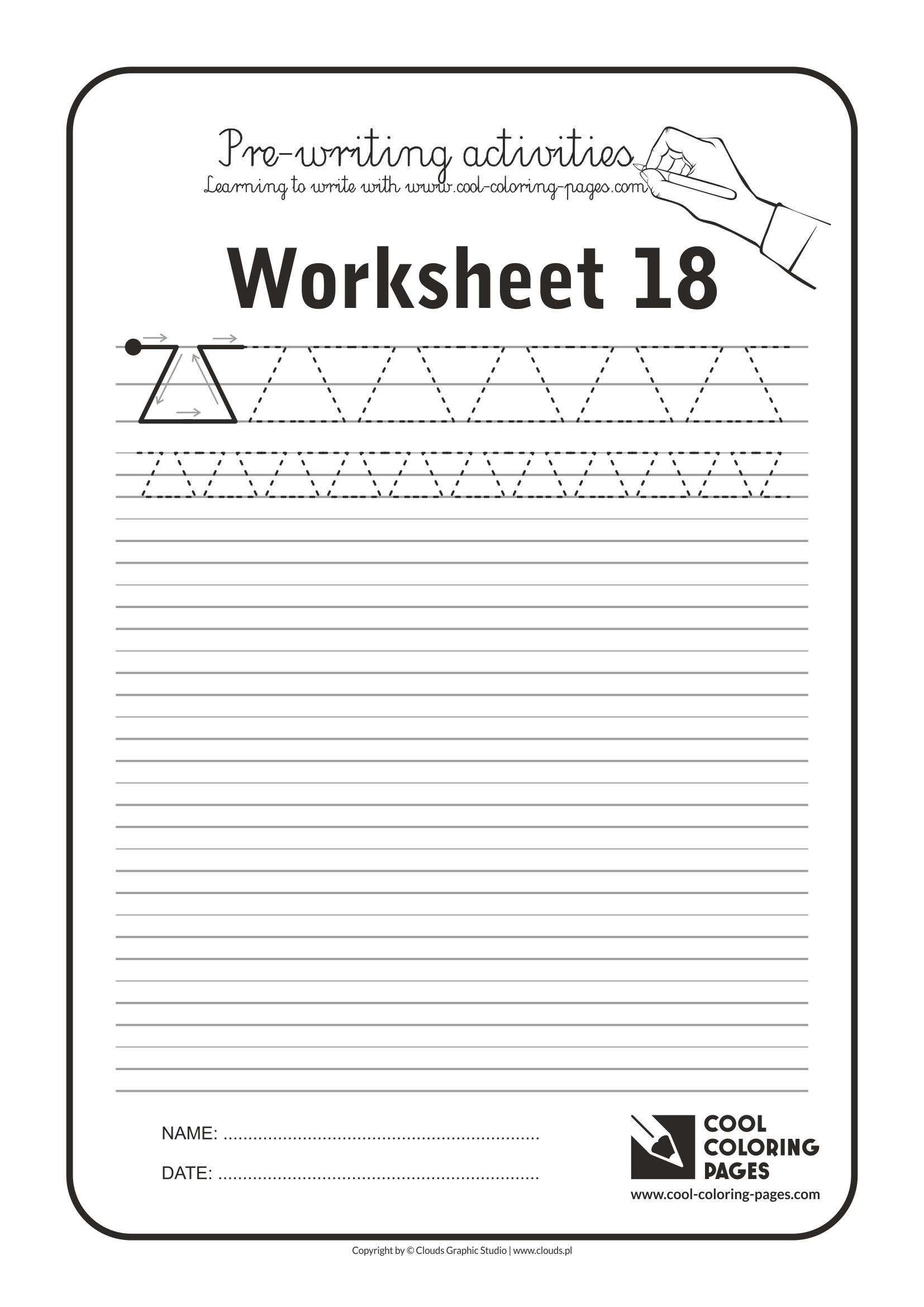 Cool Coloring Pages / Pre-writing activities / Worksheet no.18