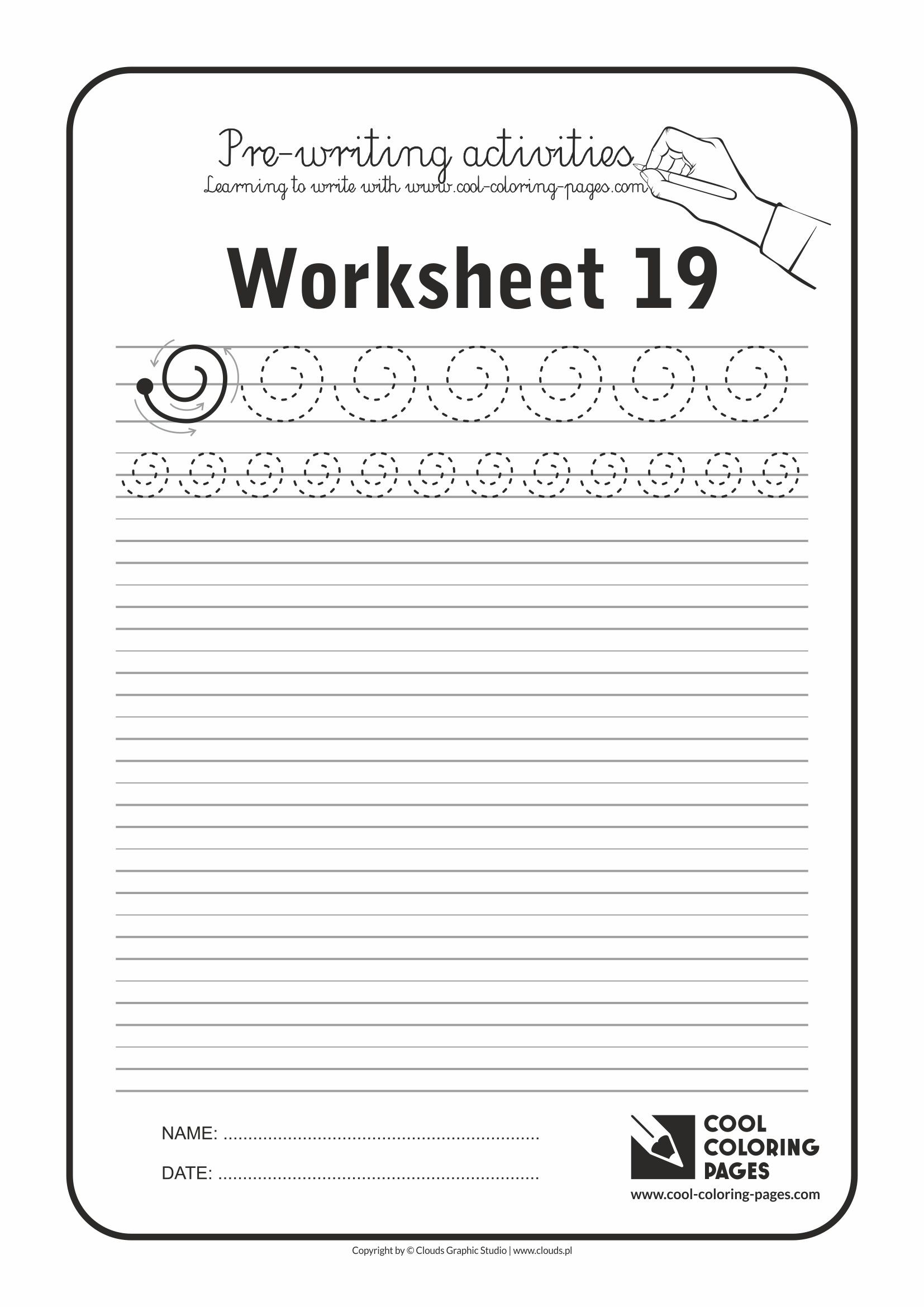 Cool Coloring Pages / Pre-writing activities / Worksheet no.19