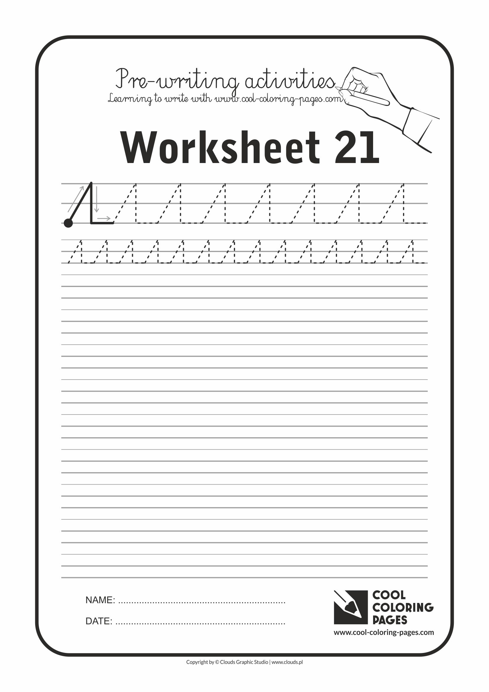 Cool Coloring Pages / Pre-writing activities / Worksheet no.21