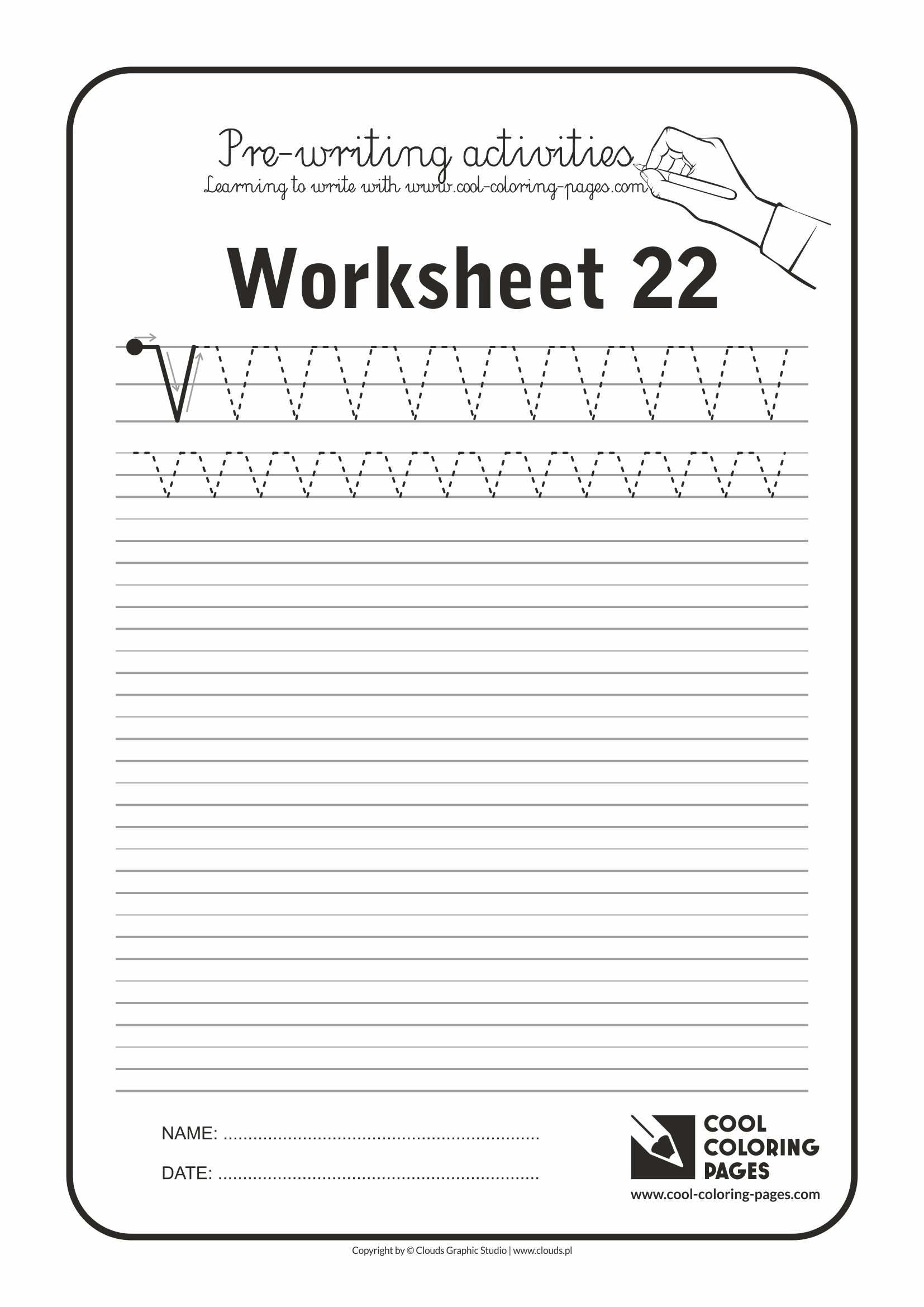 Cool Coloring Pages / Pre-writing activities / Worksheet no.22