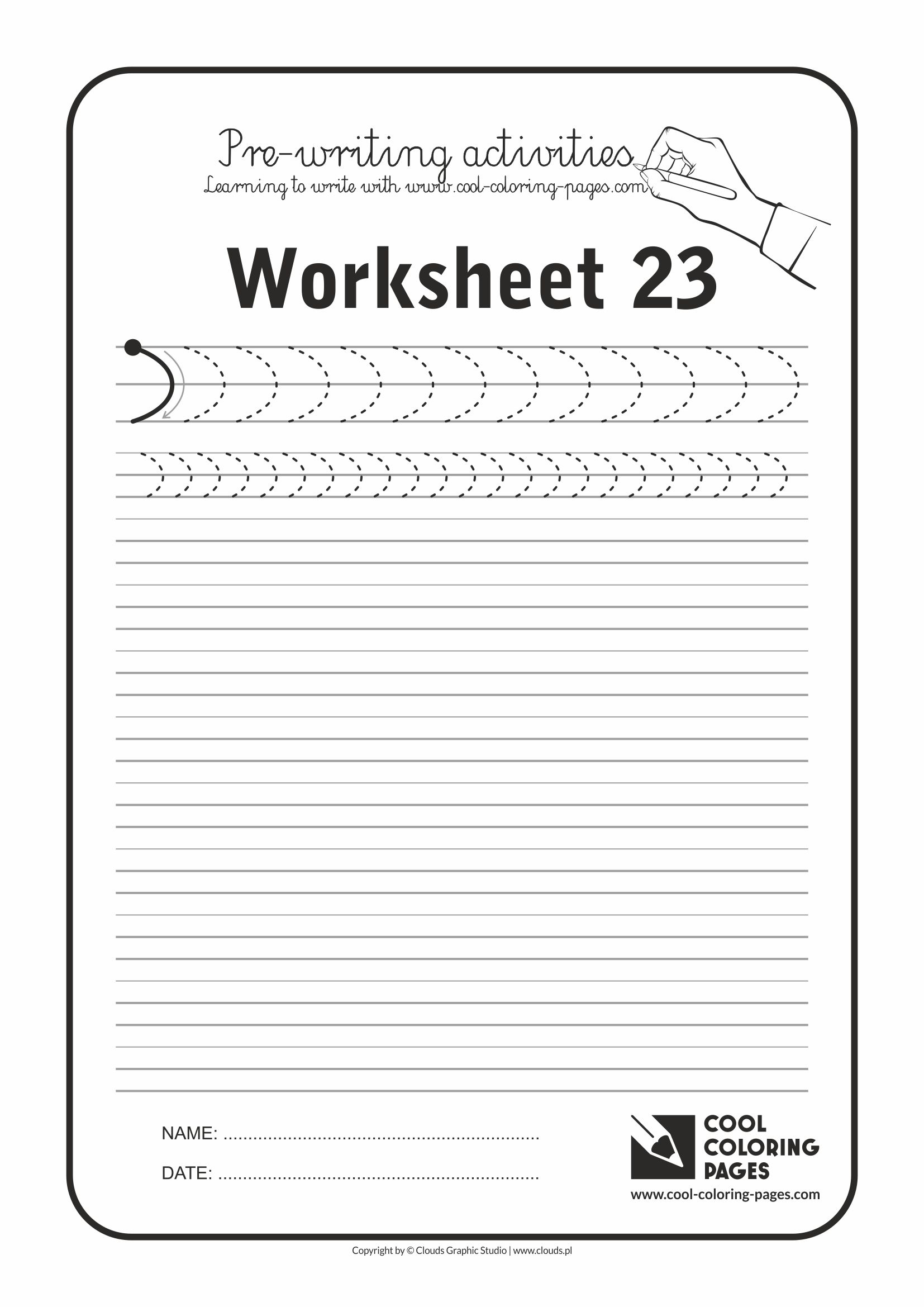 Cool Coloring Pages / Pre-writing activities / Worksheet no.23