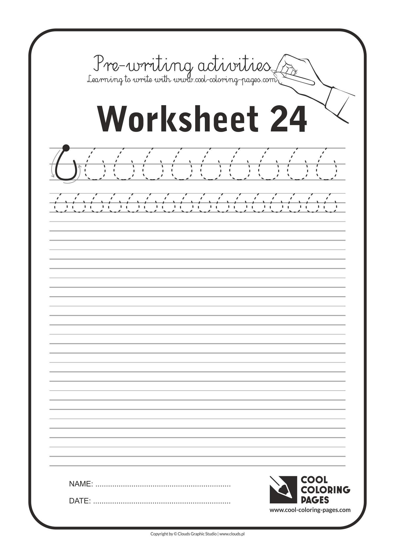 Cool Coloring Pages / Pre-writing activities / Worksheet no.24