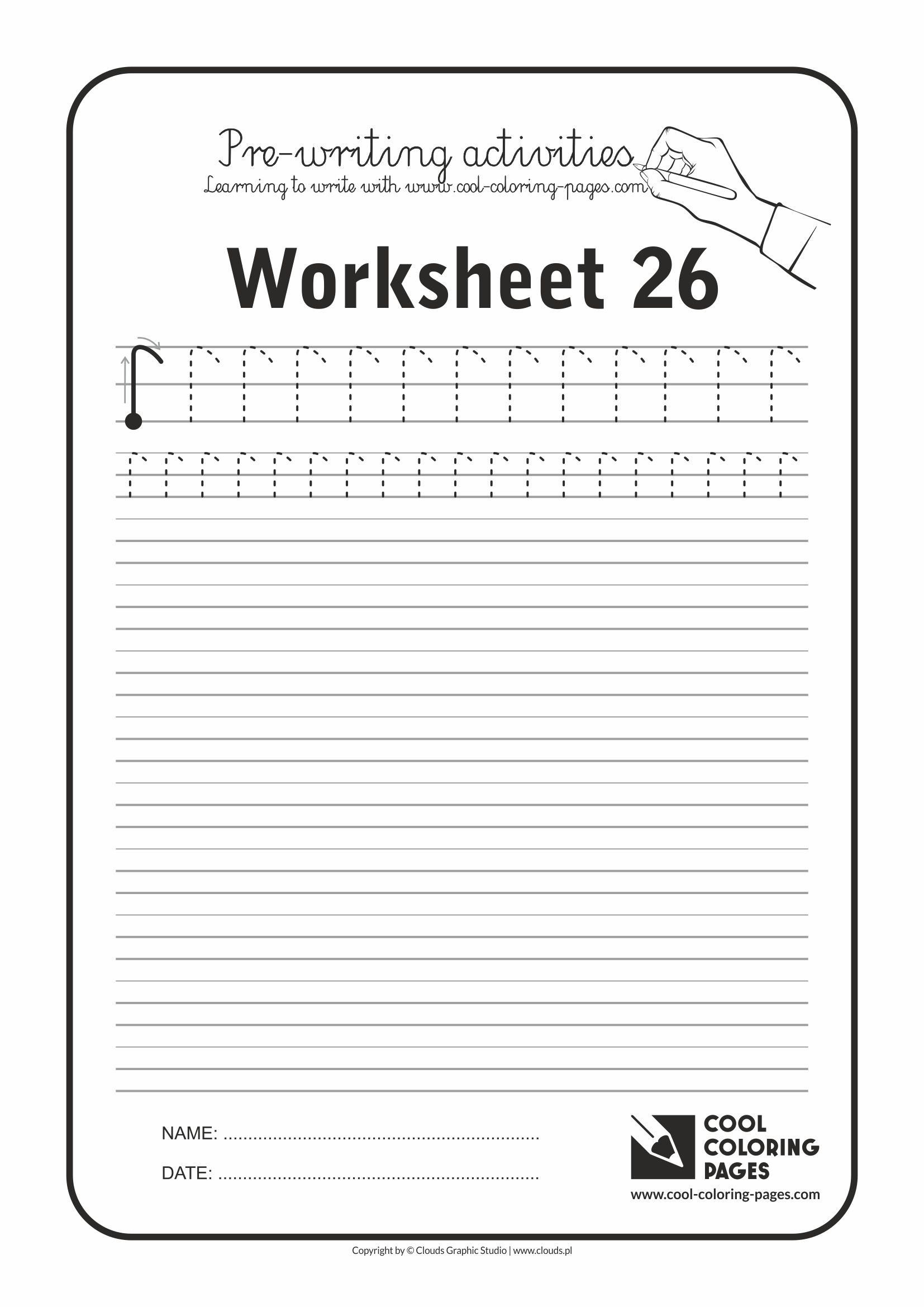 Cool Coloring Pages / Pre-writing activities / Worksheet no.26
