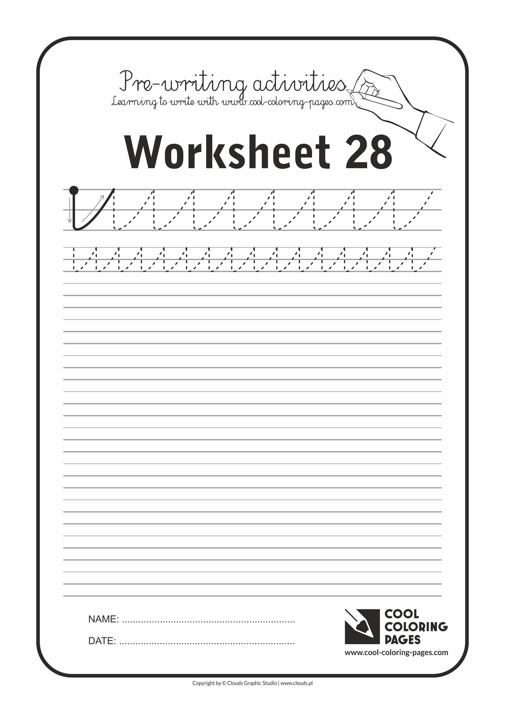 Cool Coloring Pages / Pre-writing activities / Worksheet no.28