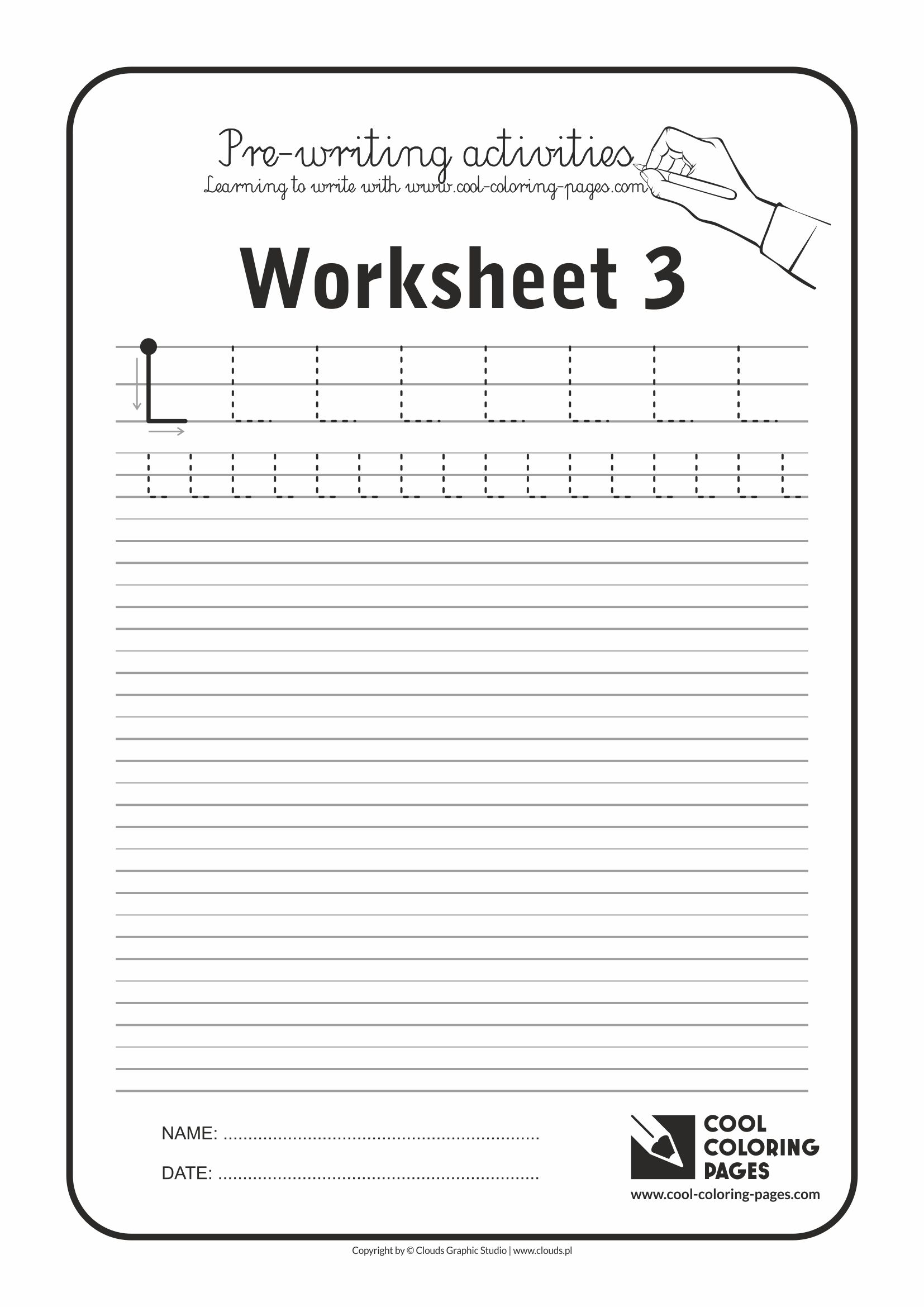 Cool Coloring Pages / Pre-writing activities / Worksheet no.3