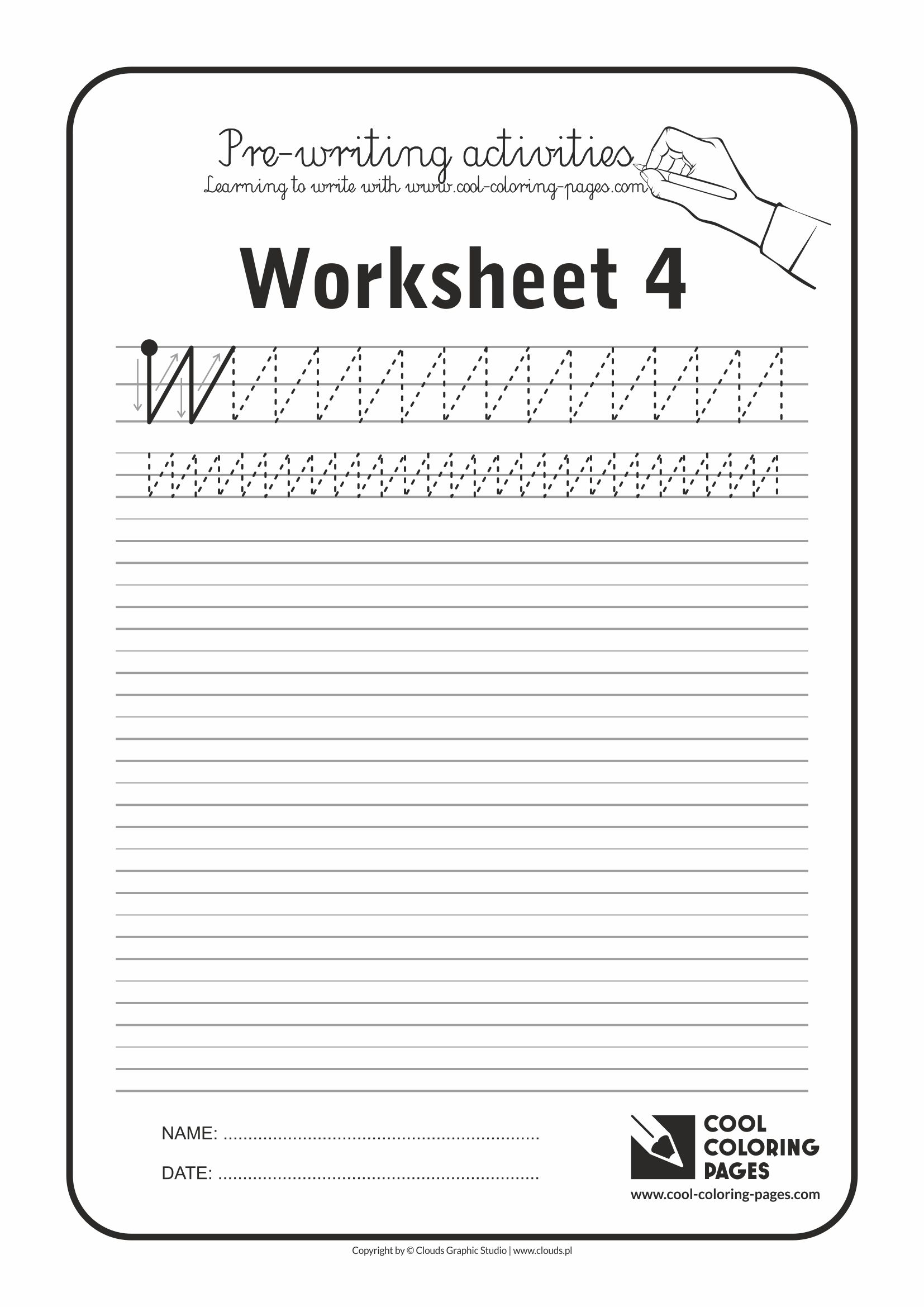 Cool Coloring Pages / Pre-writing activities / Worksheet no.4
