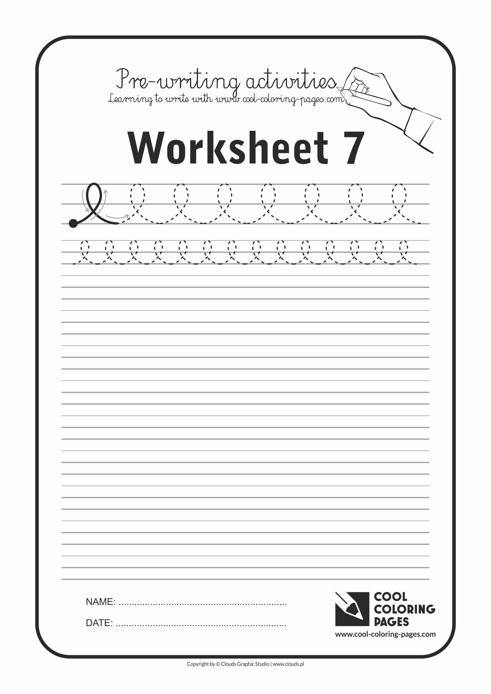 Cool Coloring Pages / Pre-writing activities / Worksheet no.7