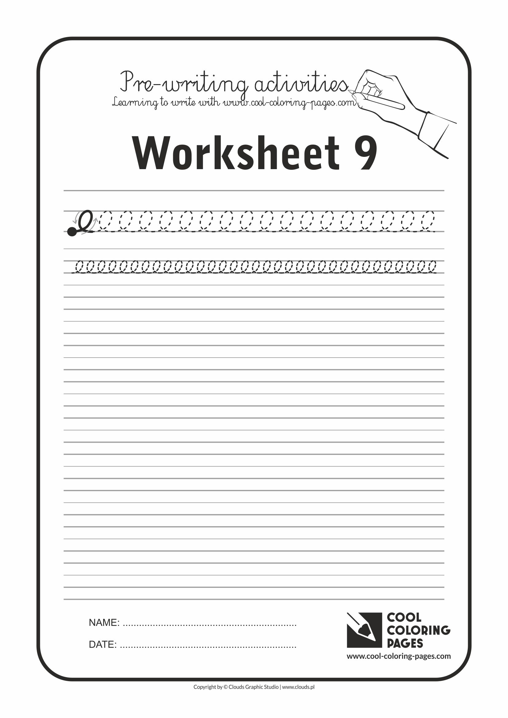 Cool Coloring Pages / Pre-writing activities / Worksheet no.9