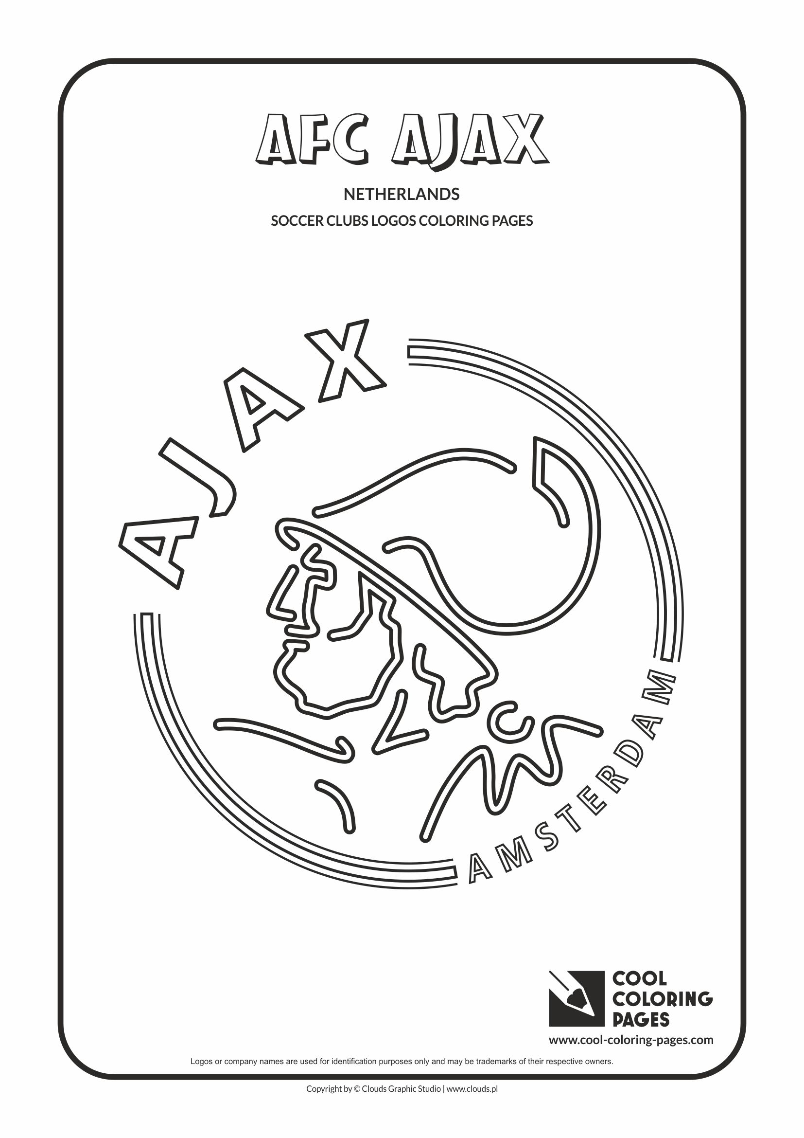 Cool Coloring Pages AFC Ajax Amsterdam Logo Coloring Page