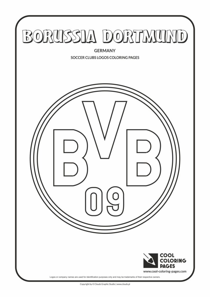 Dortmund Pages page  Borussia Cool coloring logo Coloring