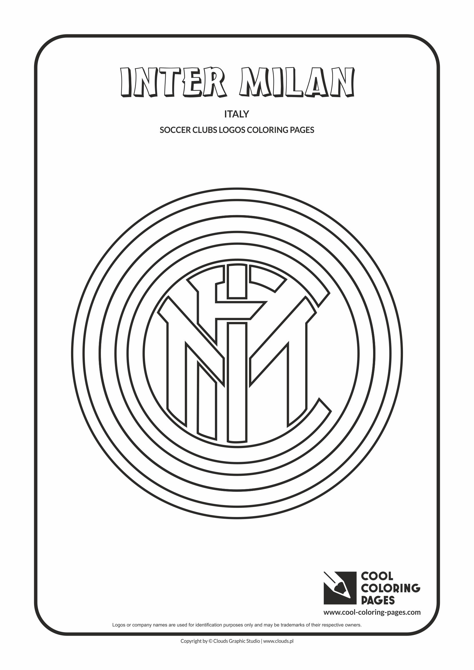 Cool Coloring Pages - Soccer Clubs Logos / Inter Milan logo / Coloring page with Inter Milan logo