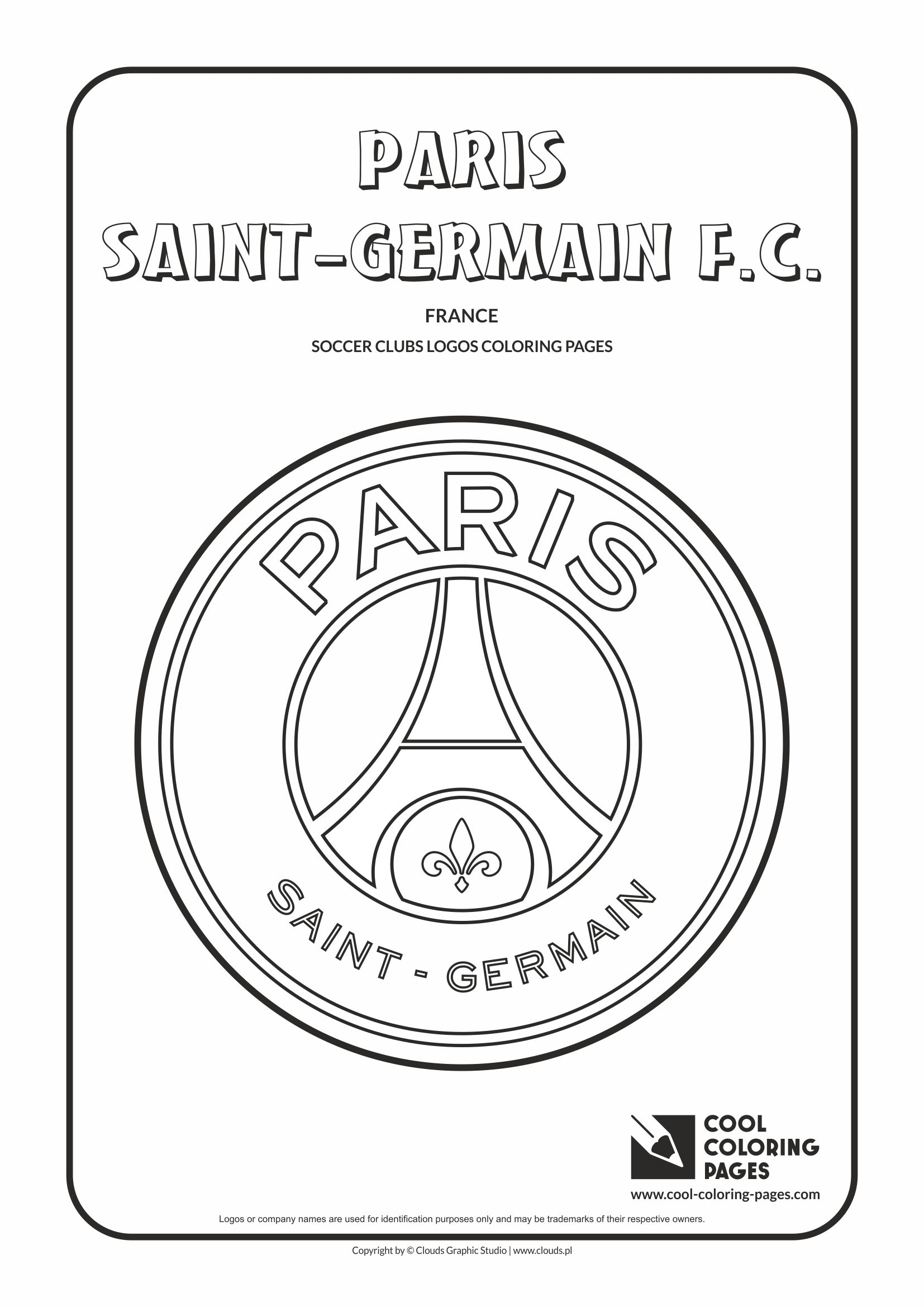 Cool Coloring Pages Paris SaintGermain