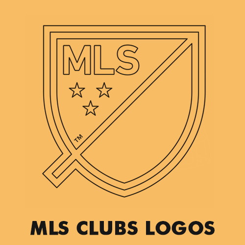 MLS soccer clubs logos coloring pages
