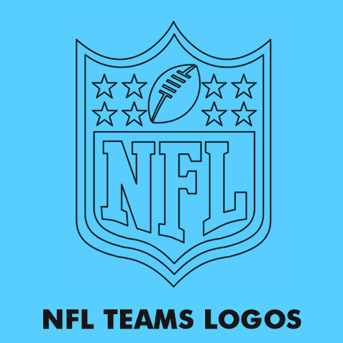 NFL - American Football Teams logos coloring pages for kids