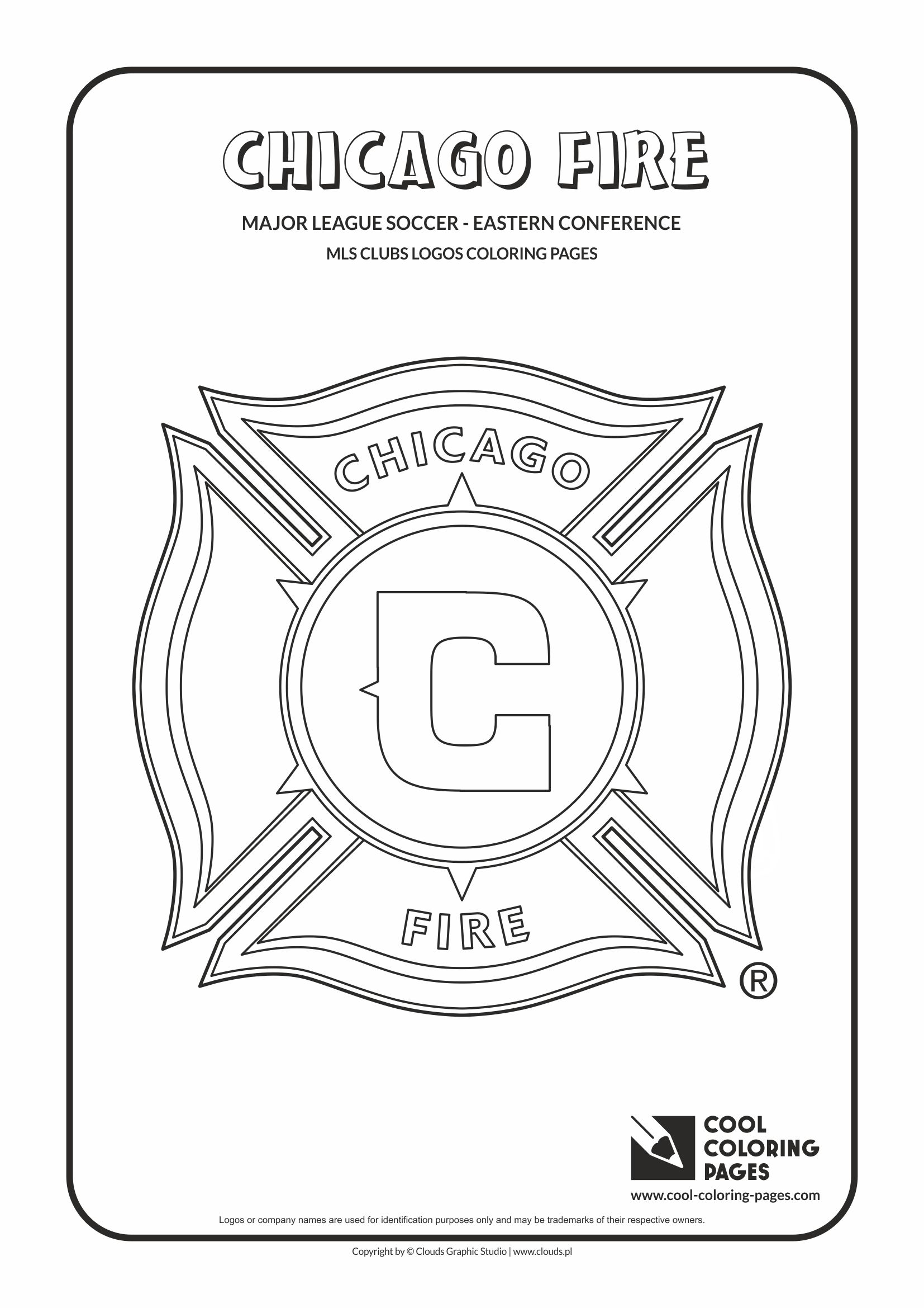 Cool Coloring Pages - Major League Soccer Logos - Eastern Conference / Chicago Fire Soccer Club logo / Coloring page with Chicago Fire Soccer Club logo