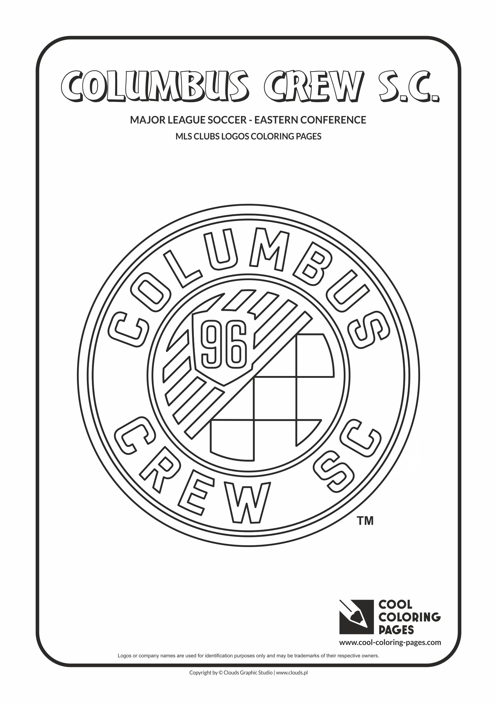 Cool Coloring Pages - Major League Soccer Logos - Eastern Conference / Columbus Crew SC logo / Coloring page with Columbus Crew SC logo