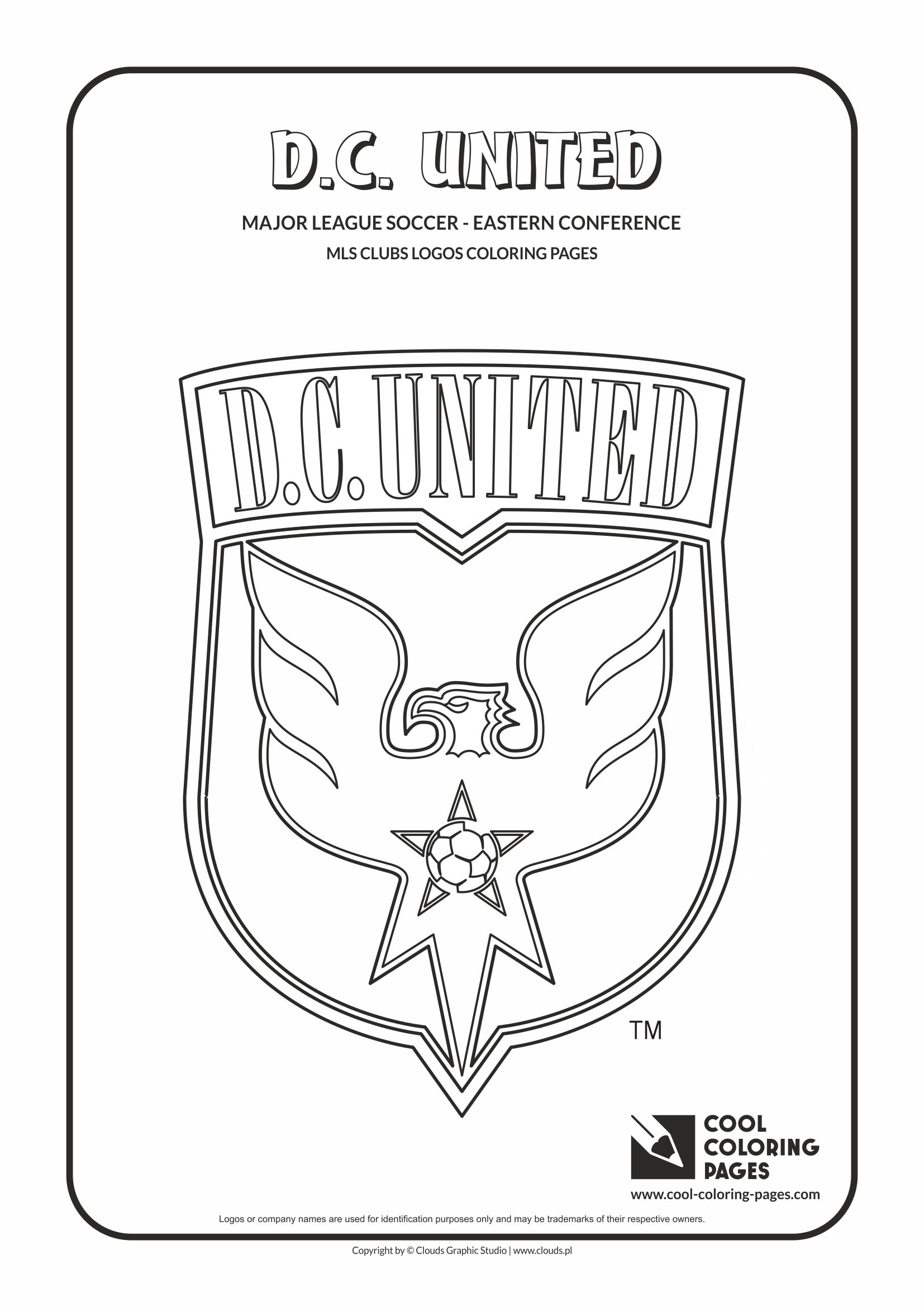 Cool Coloring Pages - Major League Soccer Logos - Eastern Conference / D.C. United logo / Coloring page with D.C. United logo