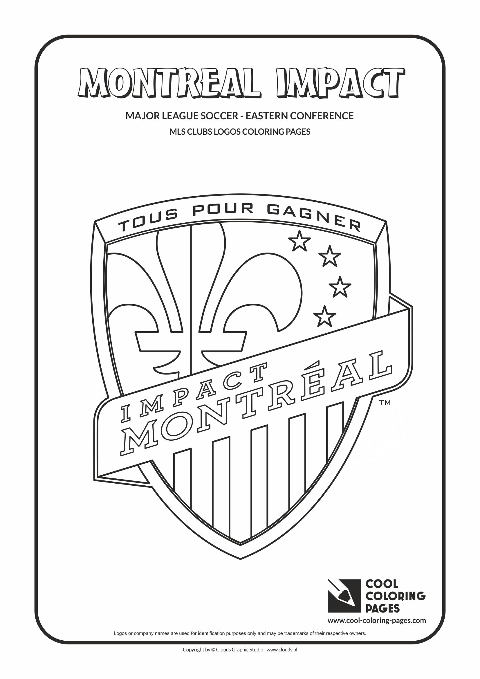 Cool Coloring Pages - Major League Soccer Logos - Eastern Conference / Montreal Impact logo / Coloring page with Montreal Impact logo